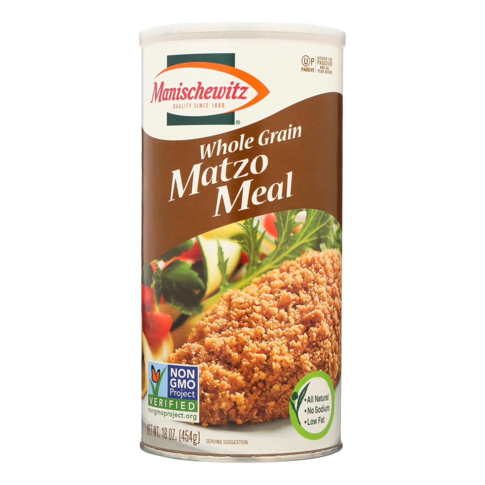 Manischewitz Whole Grain Matzo Meal - Case of 12 - 1 lb.