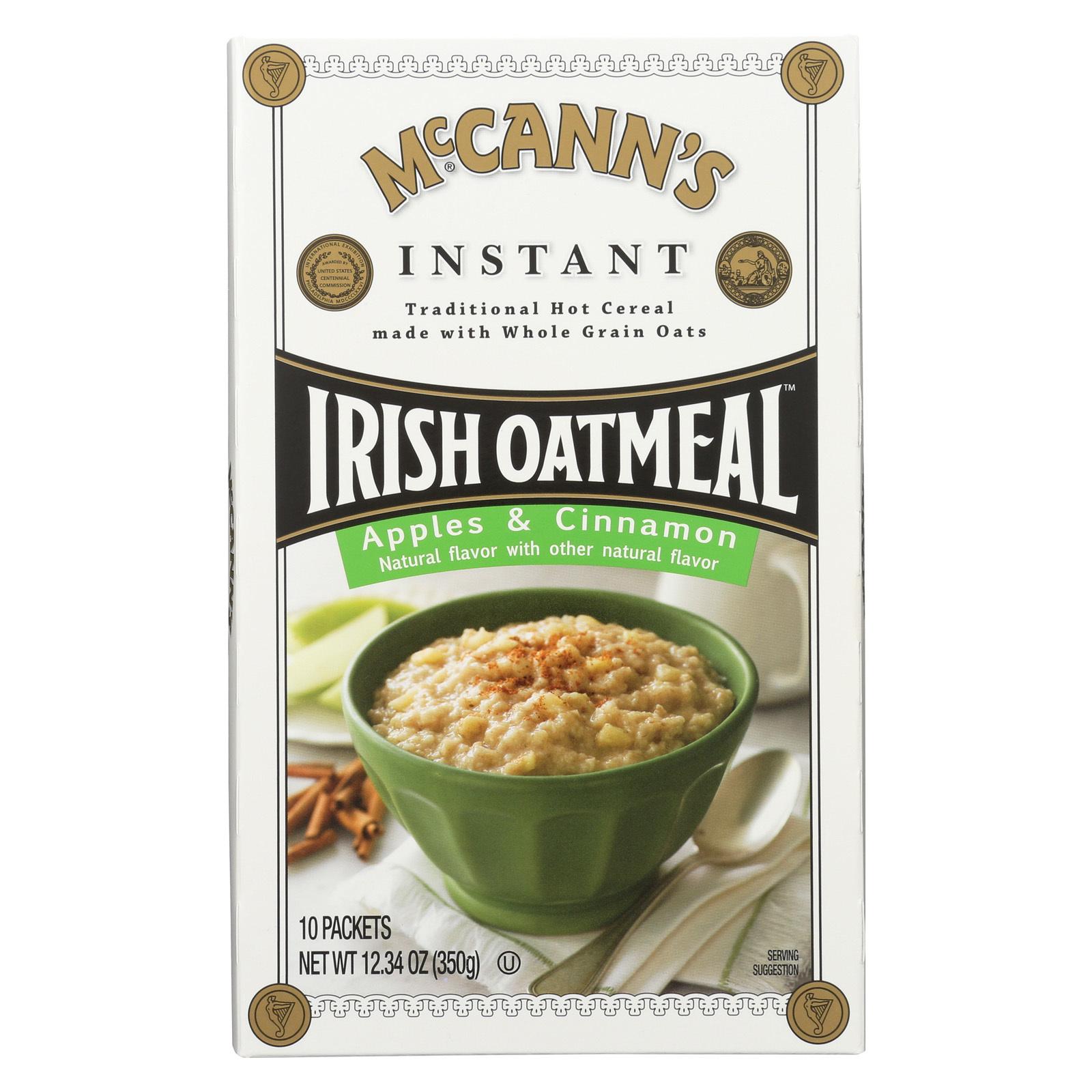 McCann's Irish Oatmeal Instant Irish Oatmeal - Apple and Cinnamon - Case of 12 - 12.34 oz.