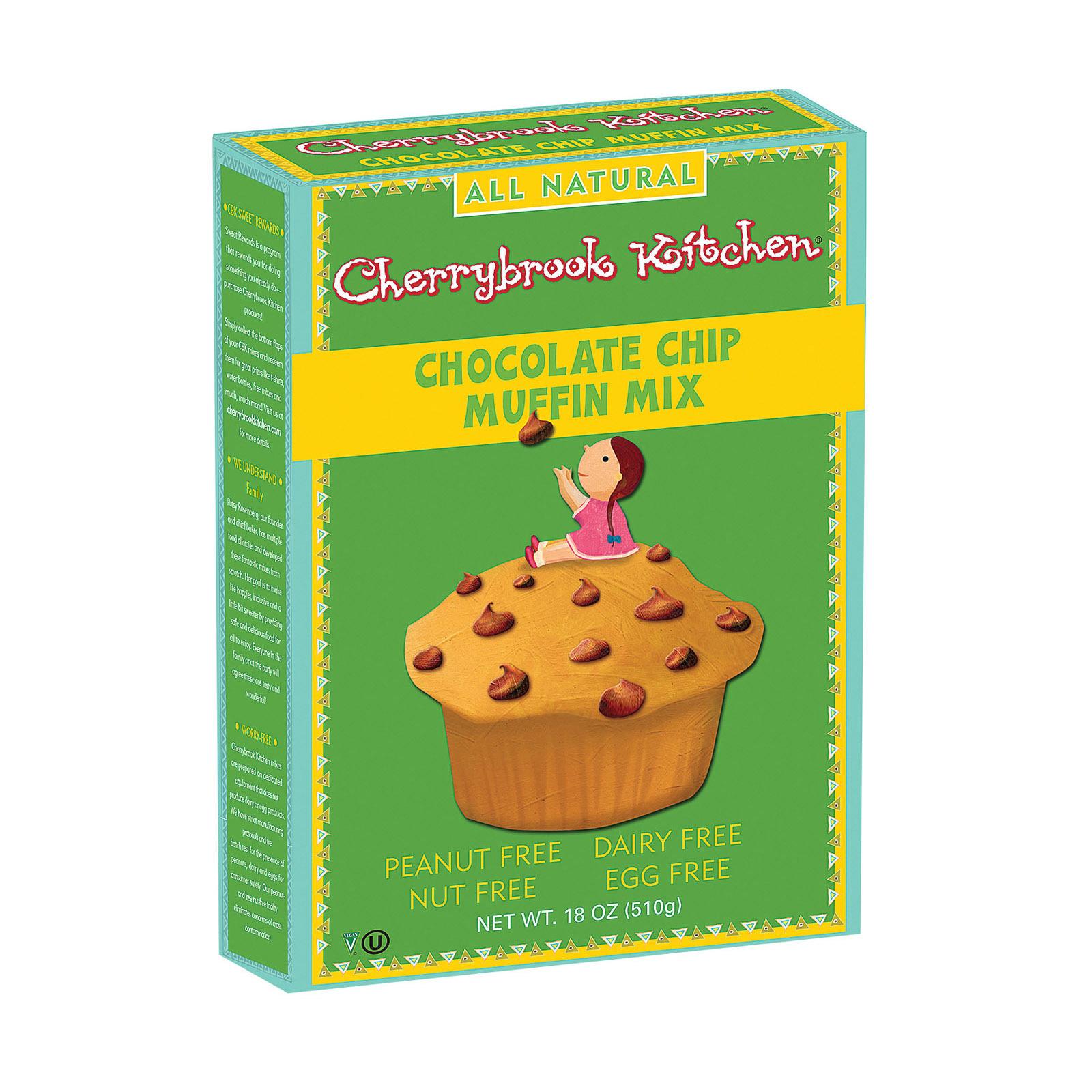 Cherrybrook Kitchen Chocolate Chip Muffin Mix - Case of 6 - 18 oz