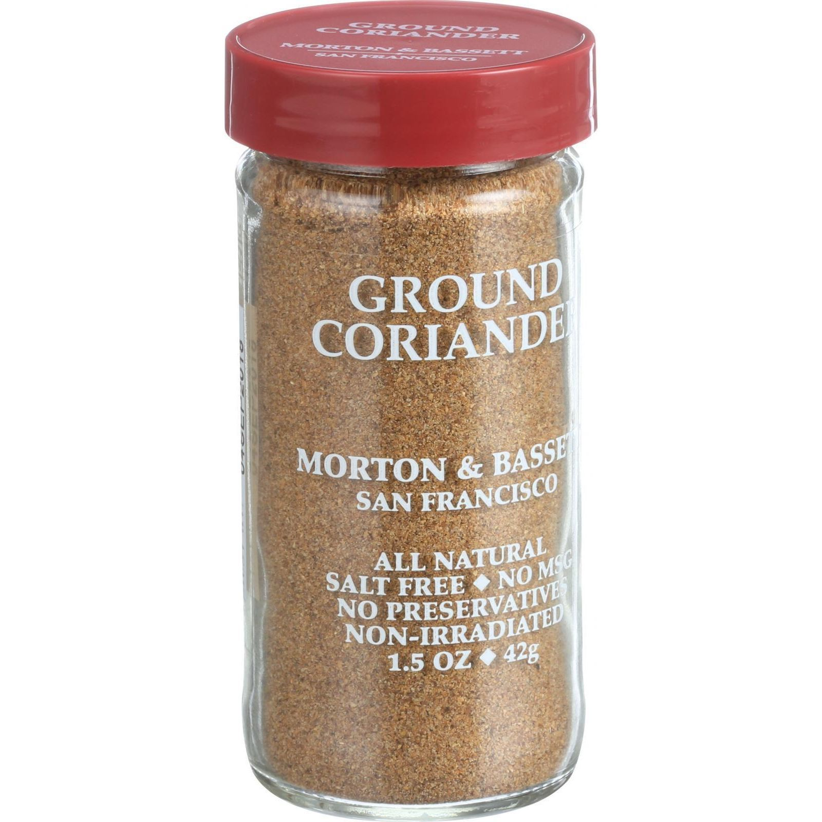 Morton and Bassett Seasoning - Coriander - Ground - 1.5 oz - Case of 3