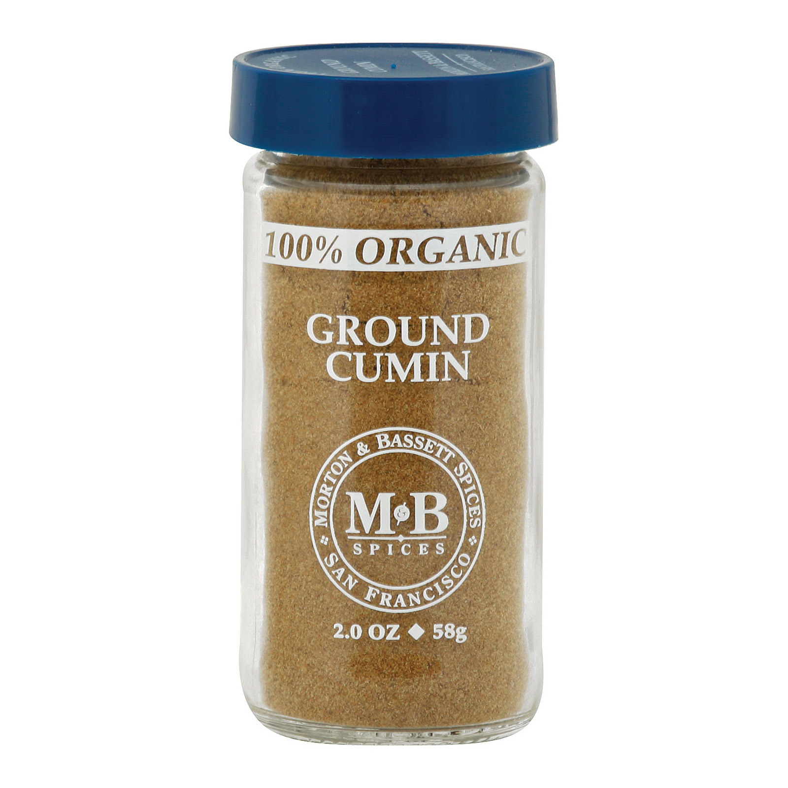 Morton and Bassett Organic Ground Cumin - Cumin - Case of 3 - 2 oz.
