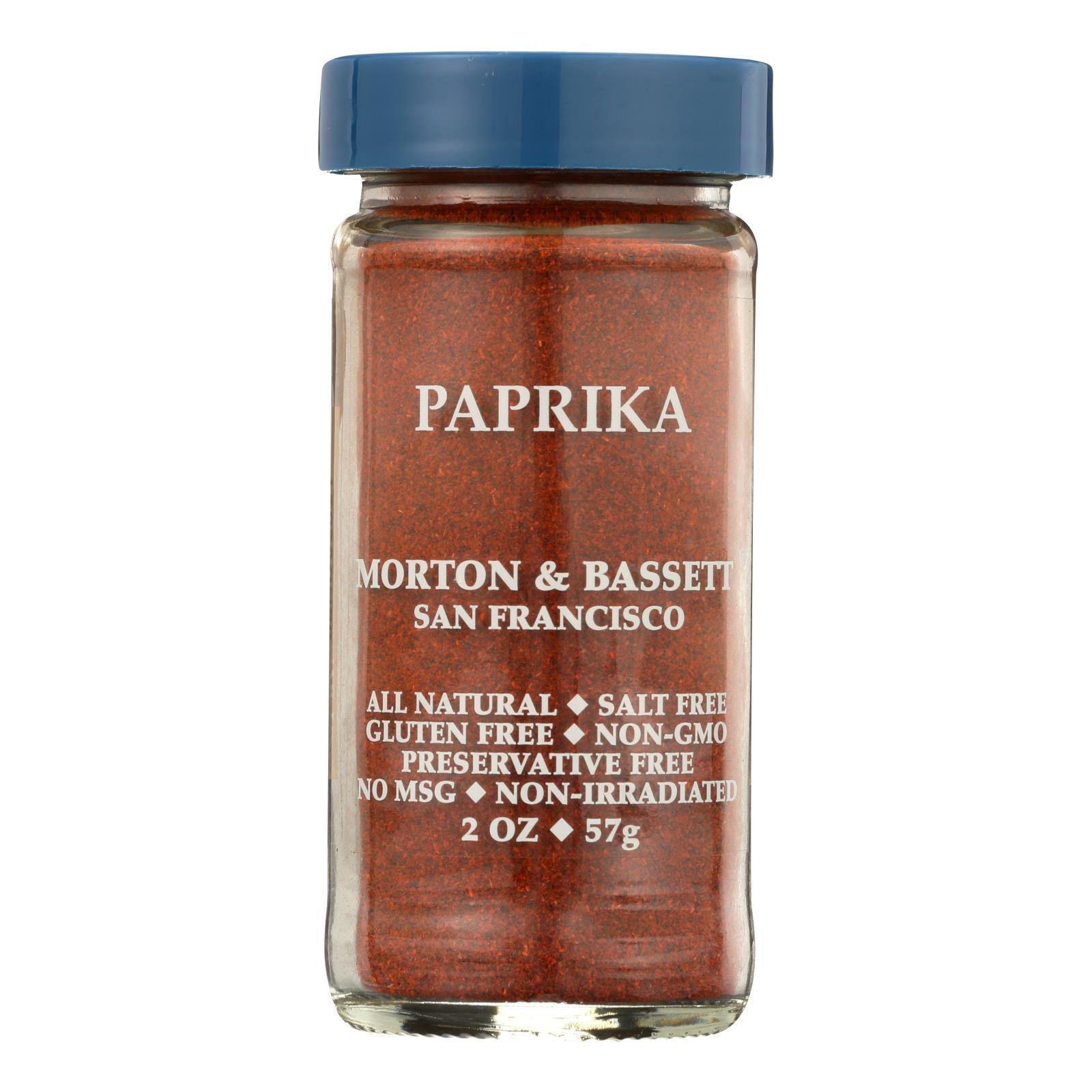 Morton and Bassett Seasoning - Paprika - 2 oz - Case of 3