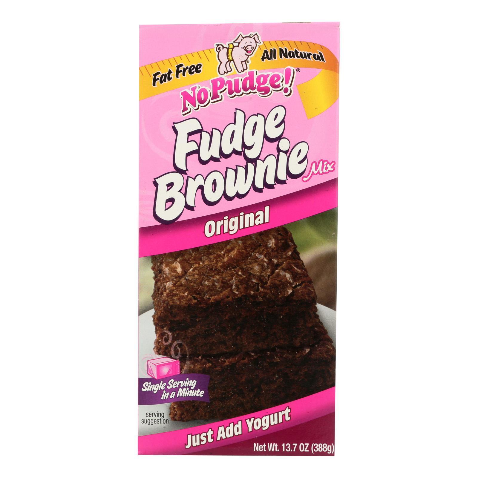No Pudge Fudge Brownie Mix - Original - Case of 6 - 13.7 oz.