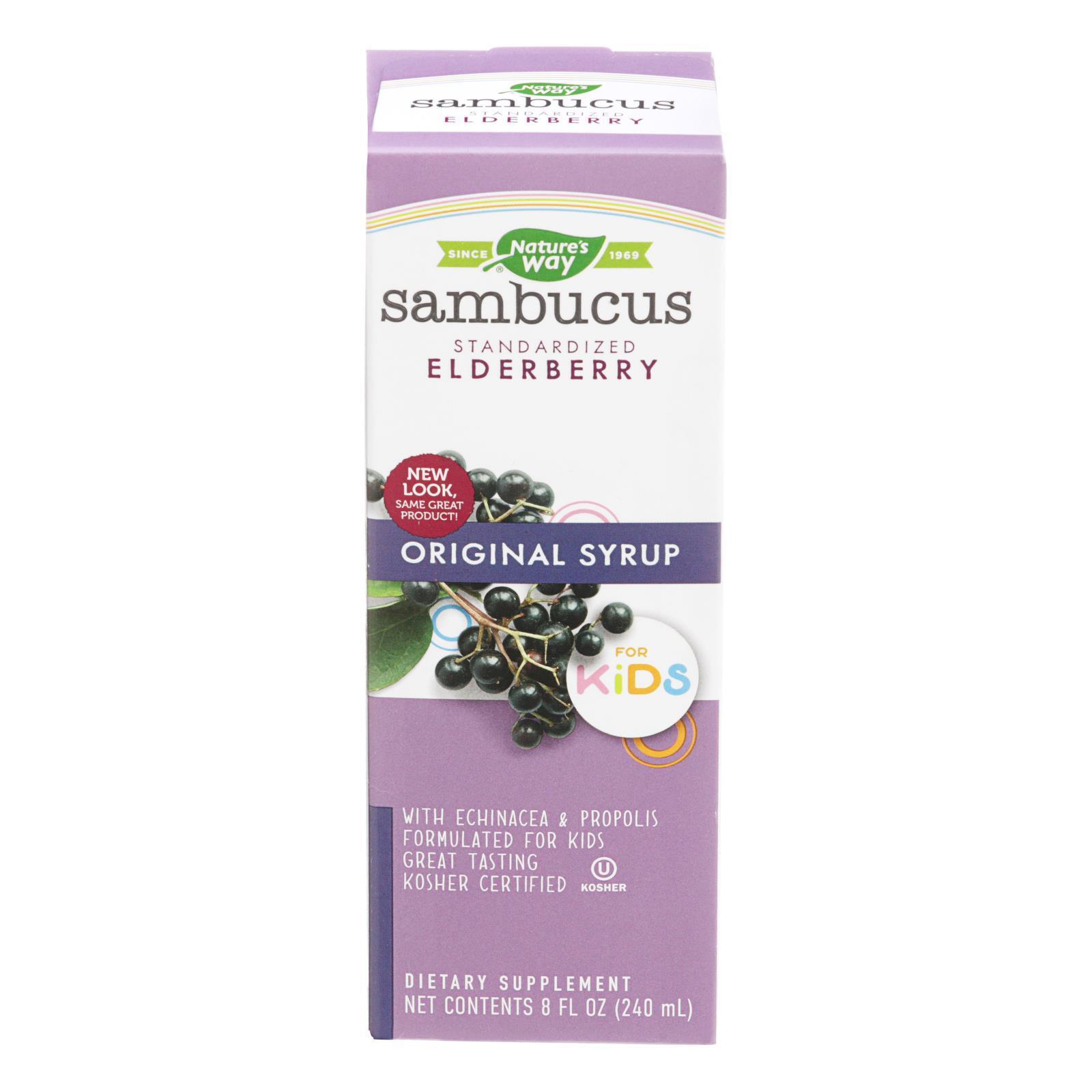 Nature's Way Original Sambucus for Kids - Standardized Elderberry - 8 fl oz