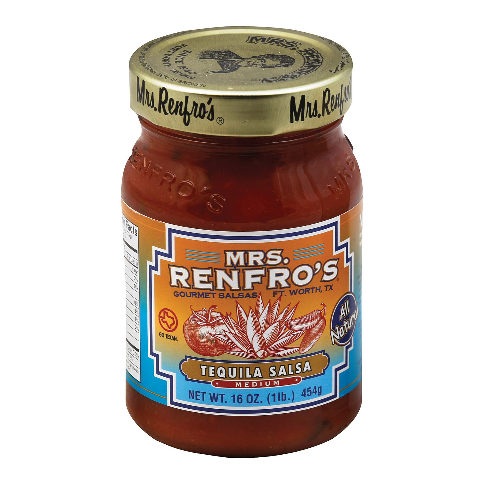 Mrs. Renfro's Salsa - Tequila - Case of 6 - 16 oz