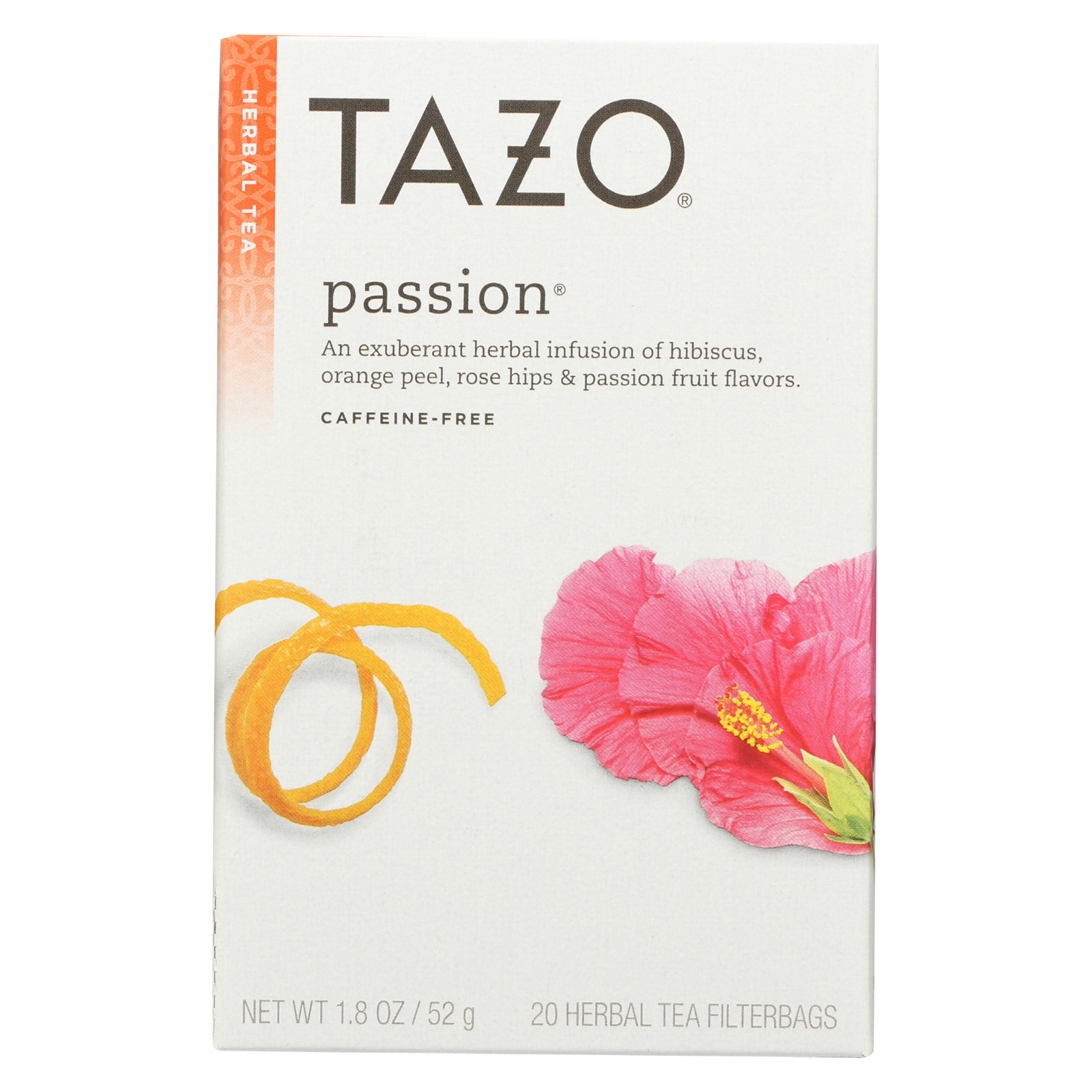 Tazo Tea Herbal Tea - Passion - Case of 6 - 20 BAG