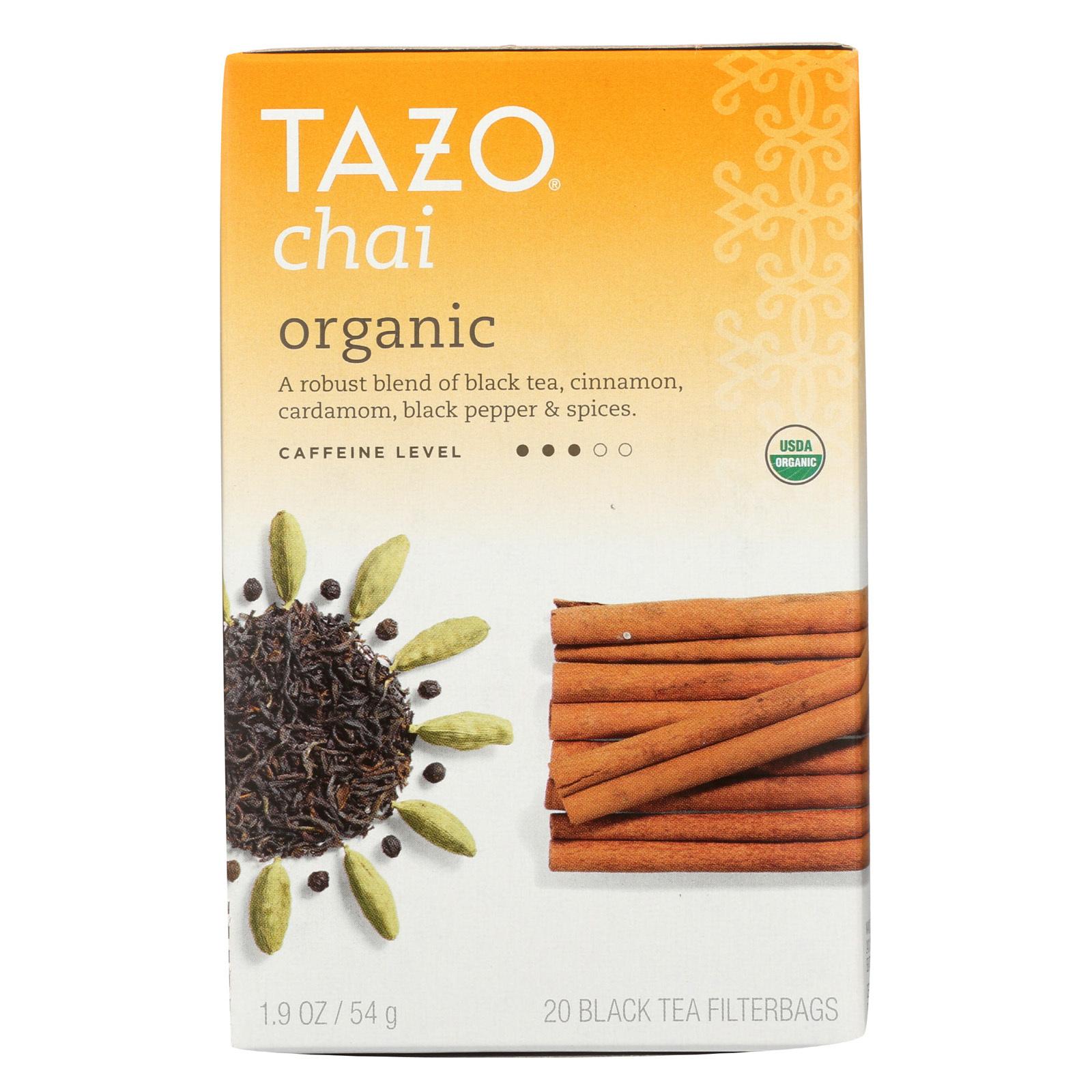 Tazo Tea Organic Tea - Spiced Black Chai - Case of 6 - 20 BAG