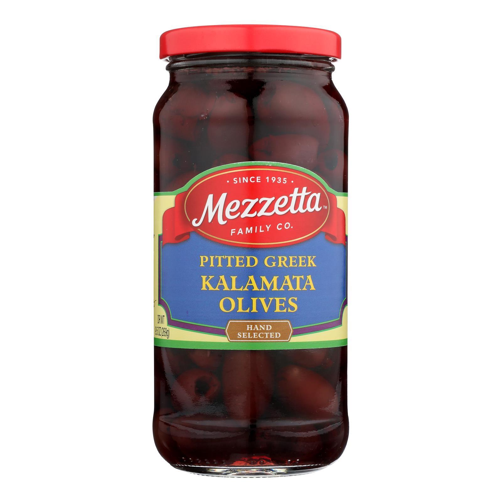 Mezzetta Pitted Greek Kalamata Olives - Case of 6 - 9.5 oz.