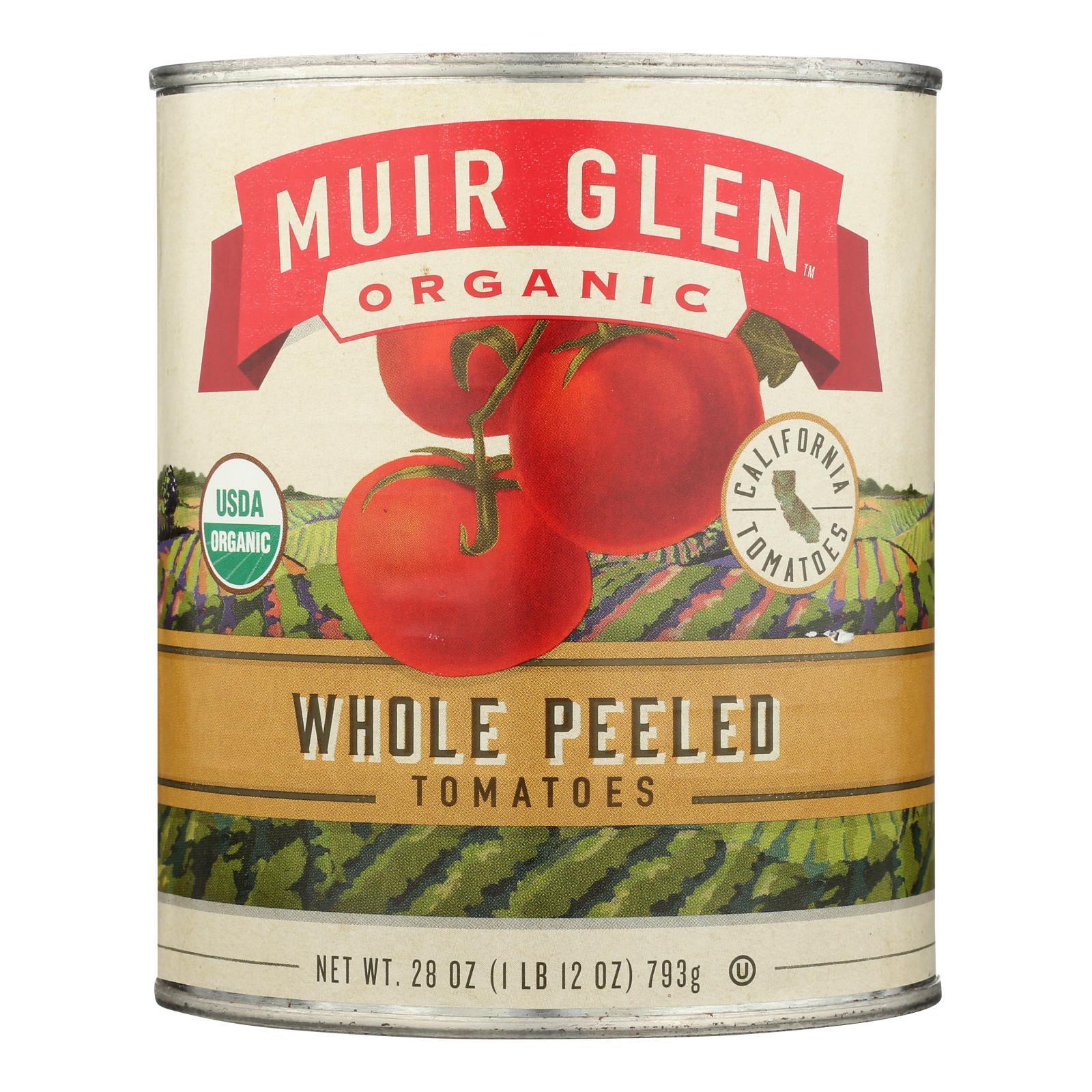 Muir Glen Organic Whole Peeled Tomatoes - Case of 12 - 28 oz.