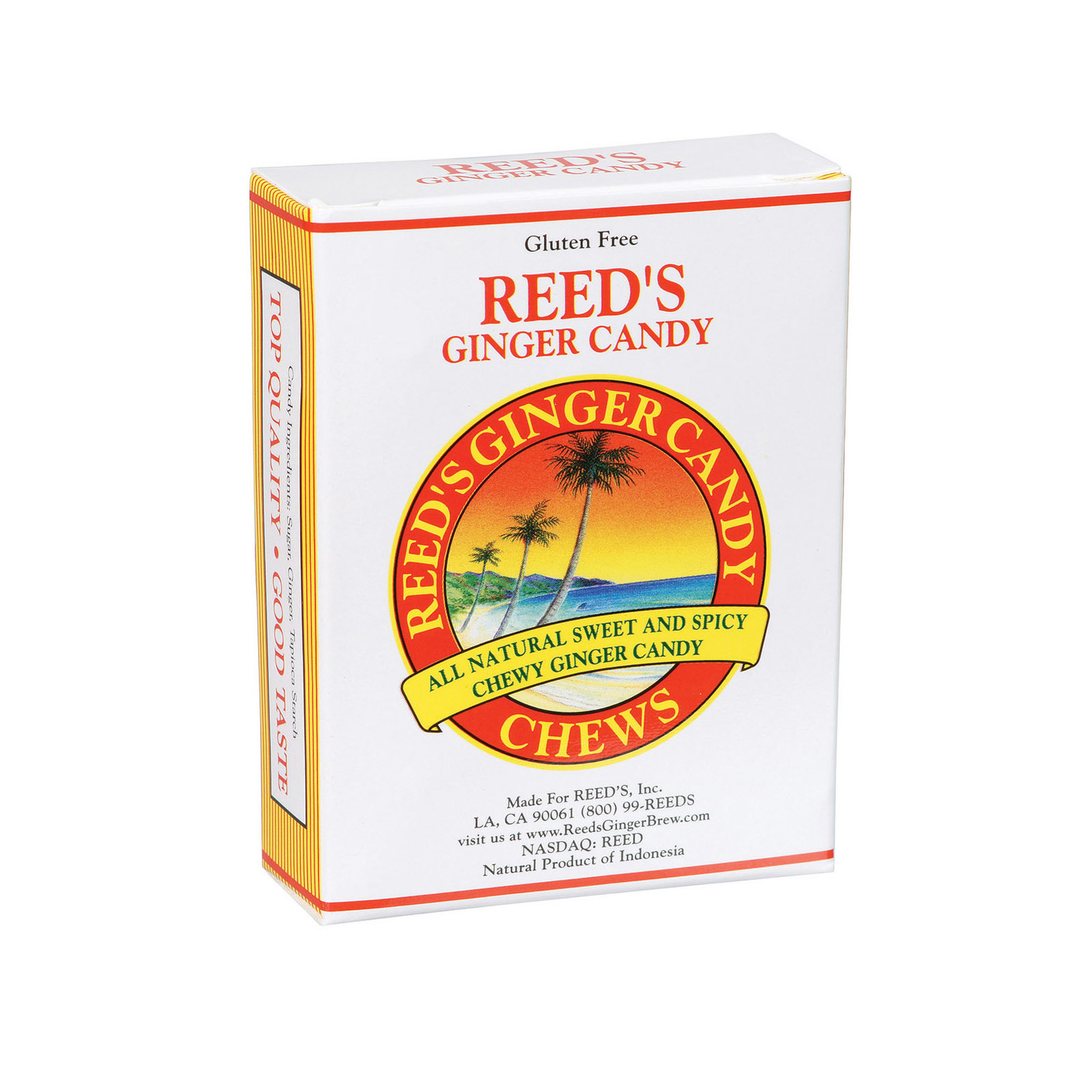 Reed's Ginger Beer Chewy Ginger Candy Rolls - Case of 20 - 2 oz