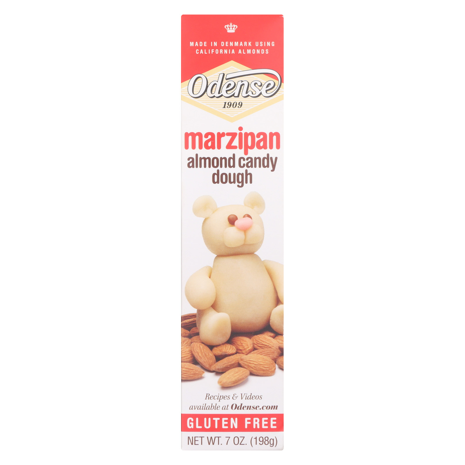 Odense Marzipan Roll - Almond - Case of 12 - 7 oz.