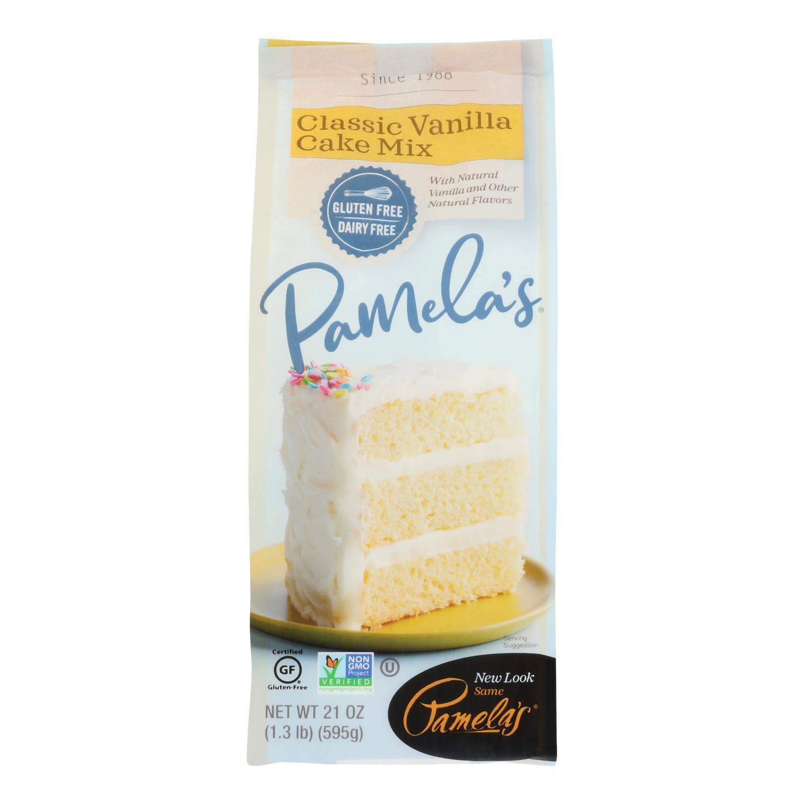 Pamela's Products Vanilla Cake - Mix - Case of 6 - 21 oz.