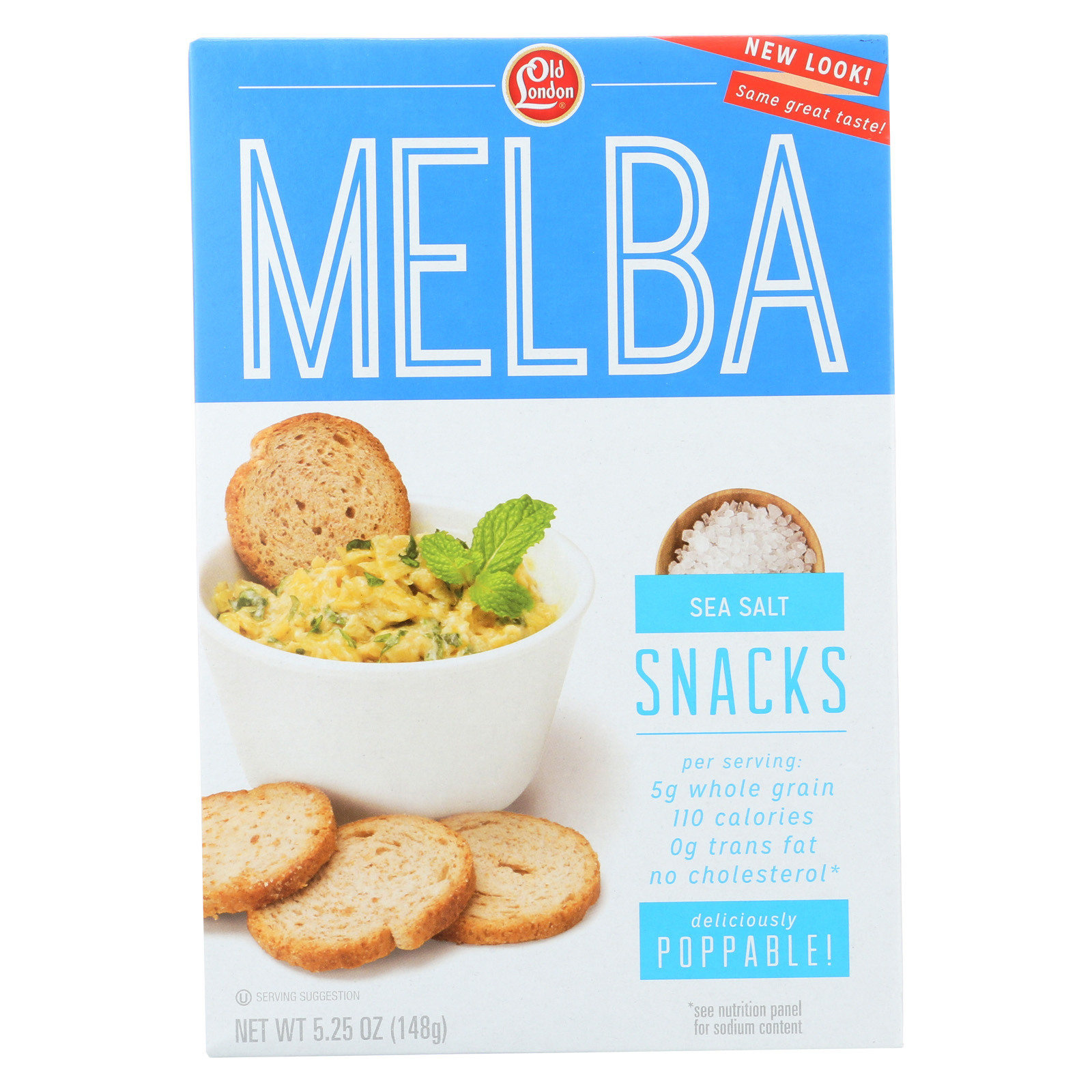 Old London Melba Snacks - Sea Salt - Case of 12 - 5.25 oz.