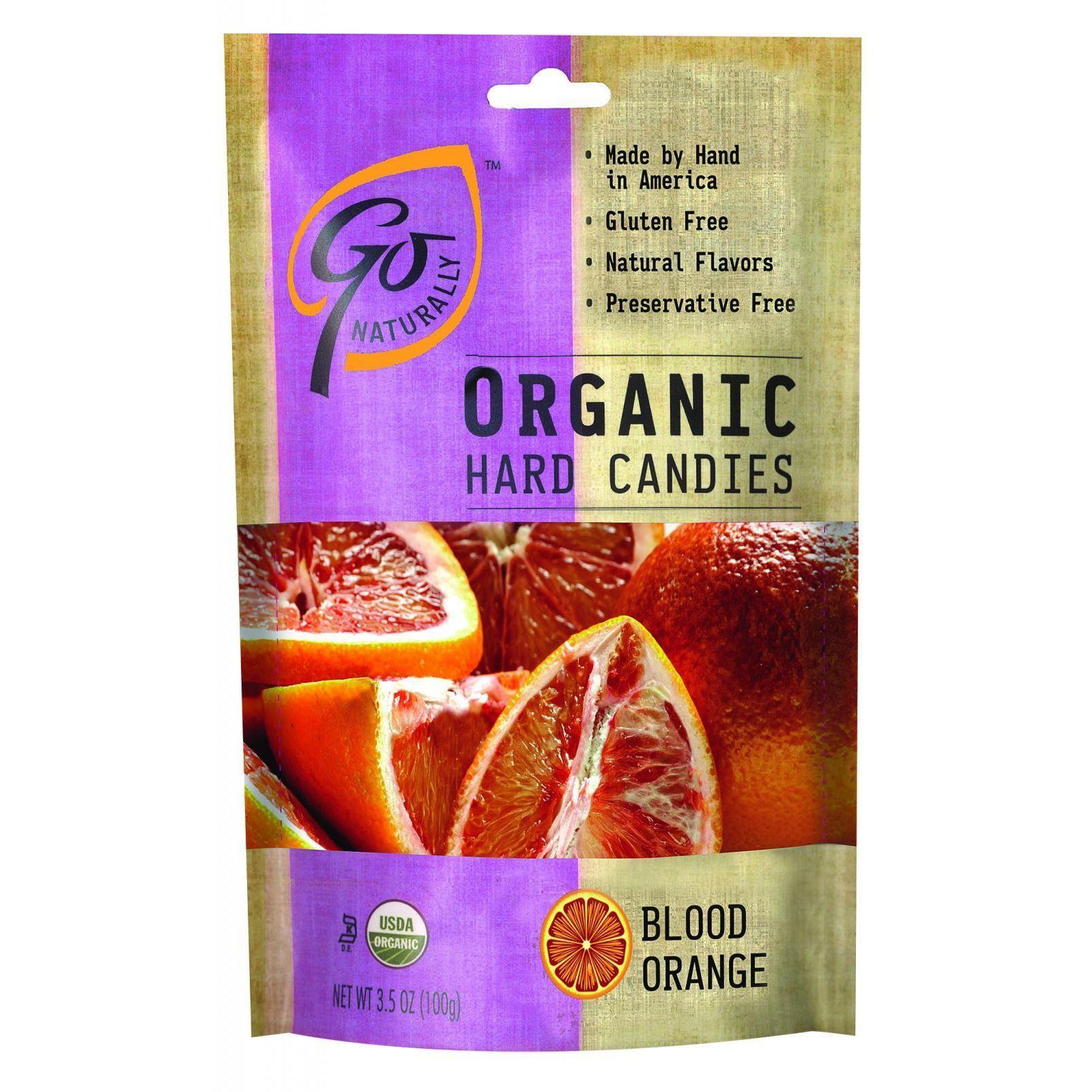 Go Organic Hard Candy - Blood Orange - 3.5 oz - Case of 6