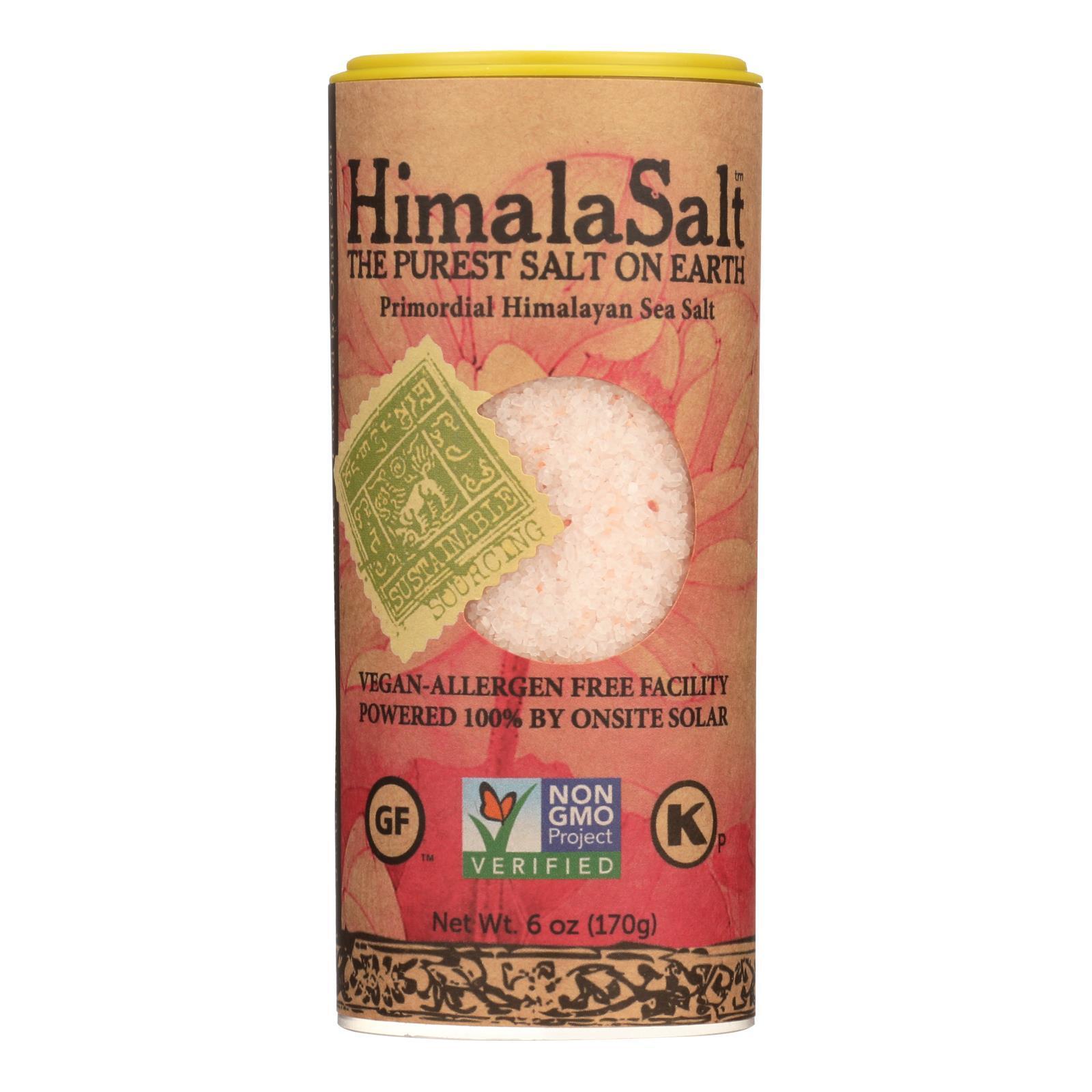 Himalasalt Primordial Himalayan Sea Salt - Fine Grain - Shaker - 6 oz - Case of 6
