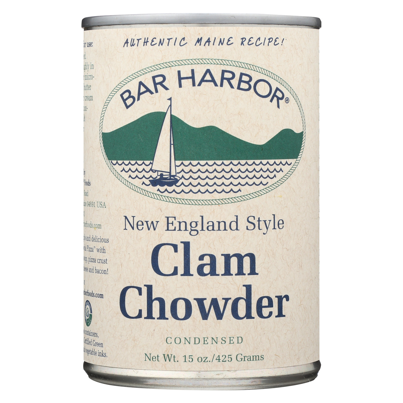 Bar Harbor All Natural New England Clam Chowder - Case of 6 - 15 oz.