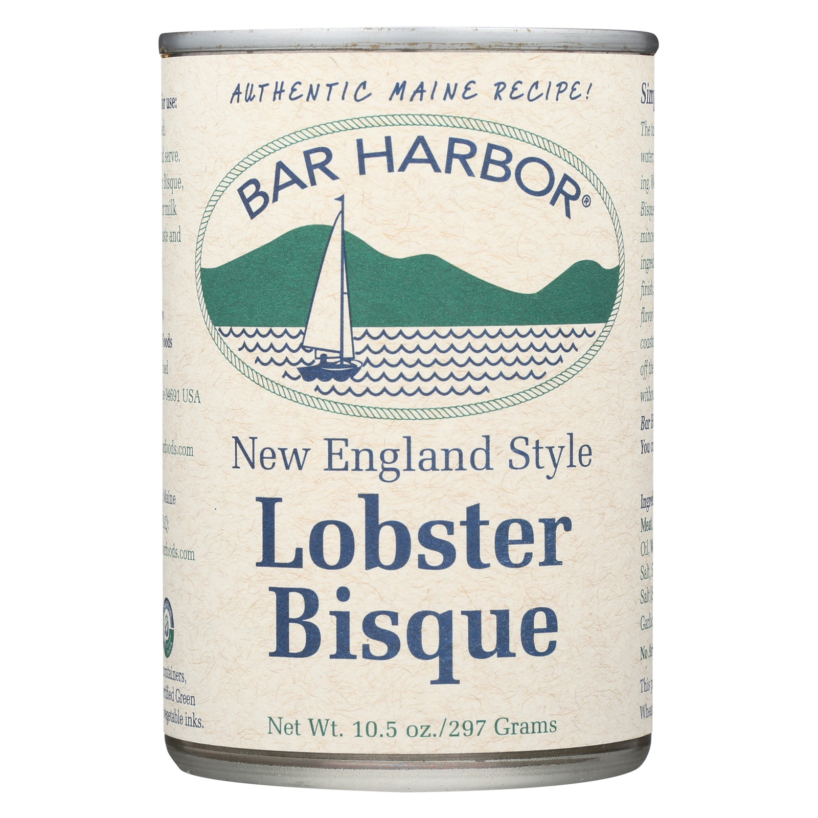 Bar Harbor New England Style Lobster Bisque - Case of 6 - 10.5 oz.