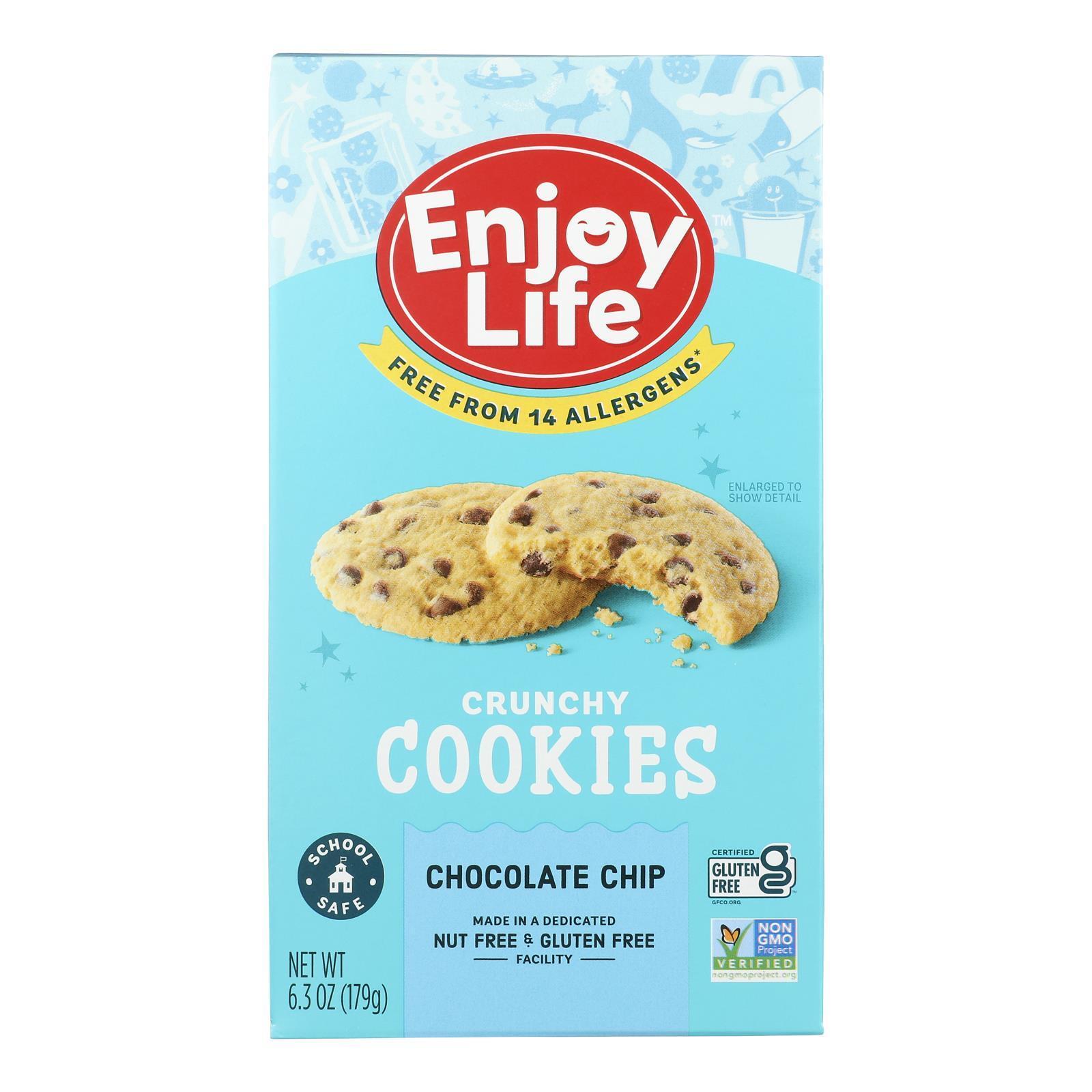 Enjoy Life Cookie - Crunchy - Chocolate Chip - Gluten Free - 6.3 oz - case of 6
