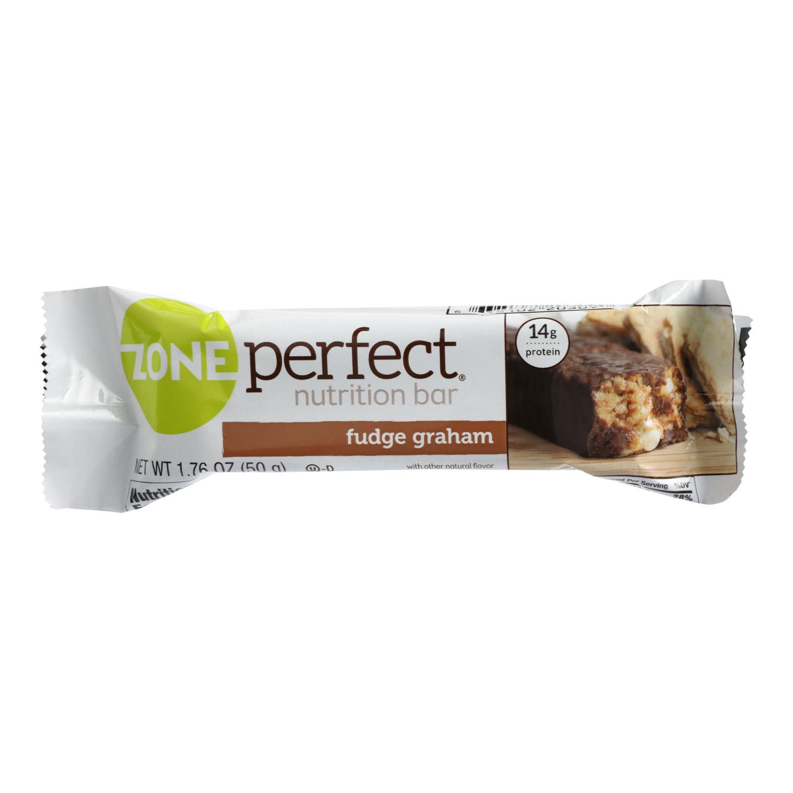 Zone Nutrition Bar - Fudge Graham - Case of 12 - 1.76 oz