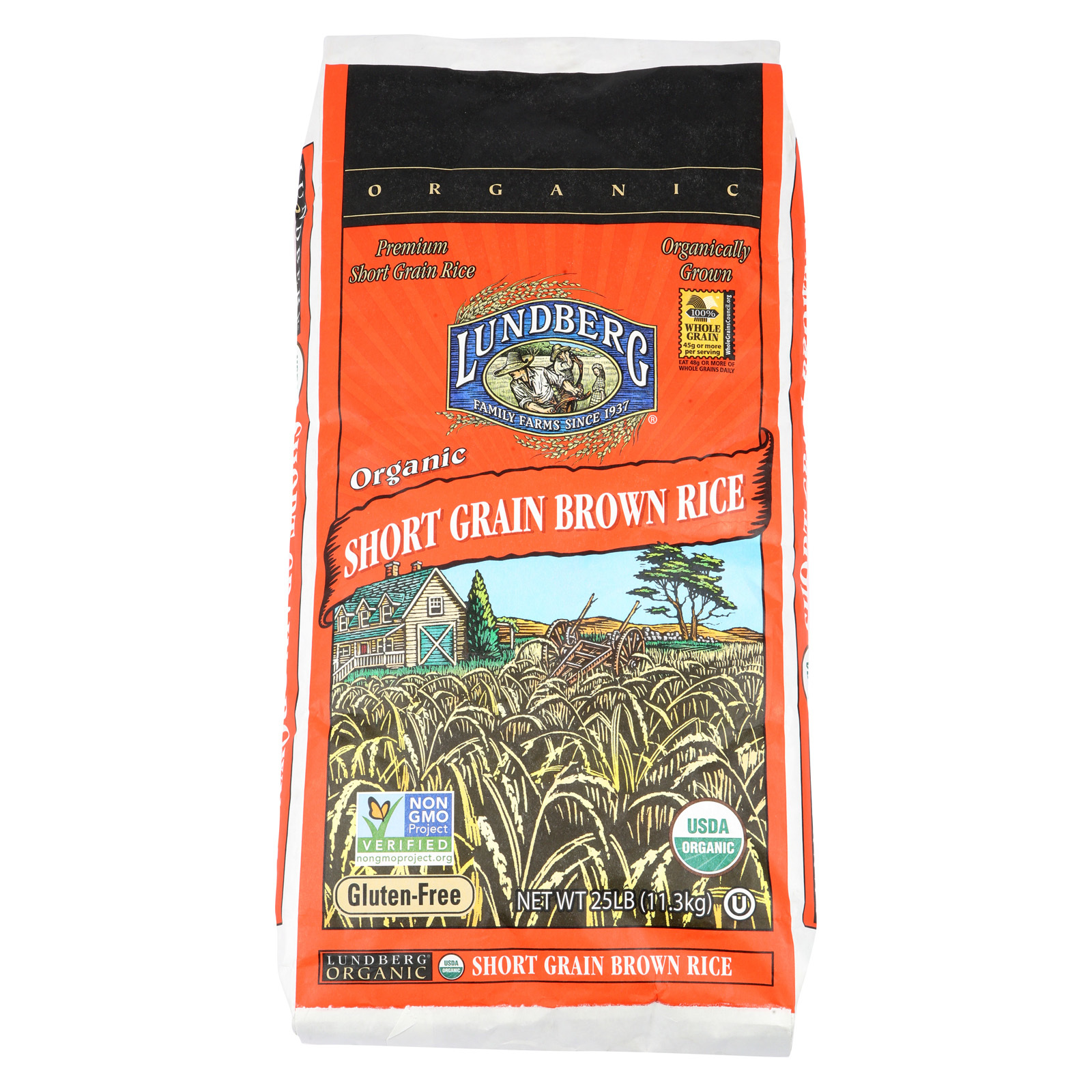 Lundberg Family Farms Short Grain Brown Rice - Case of 25 - 1 lb.