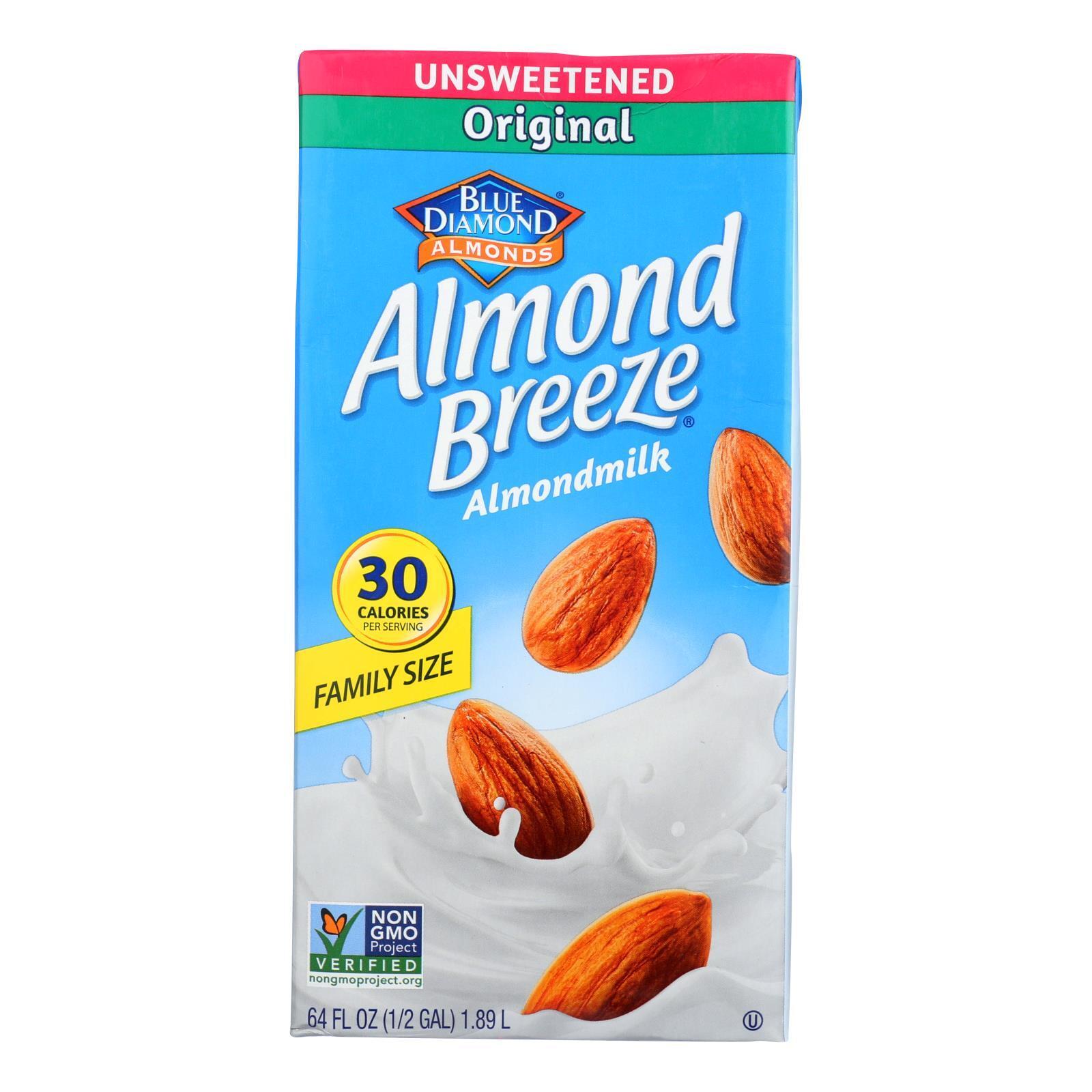 Almond Breeze Unsweetened Original Almond Breeze - Case of 8 - 64 fl oz
