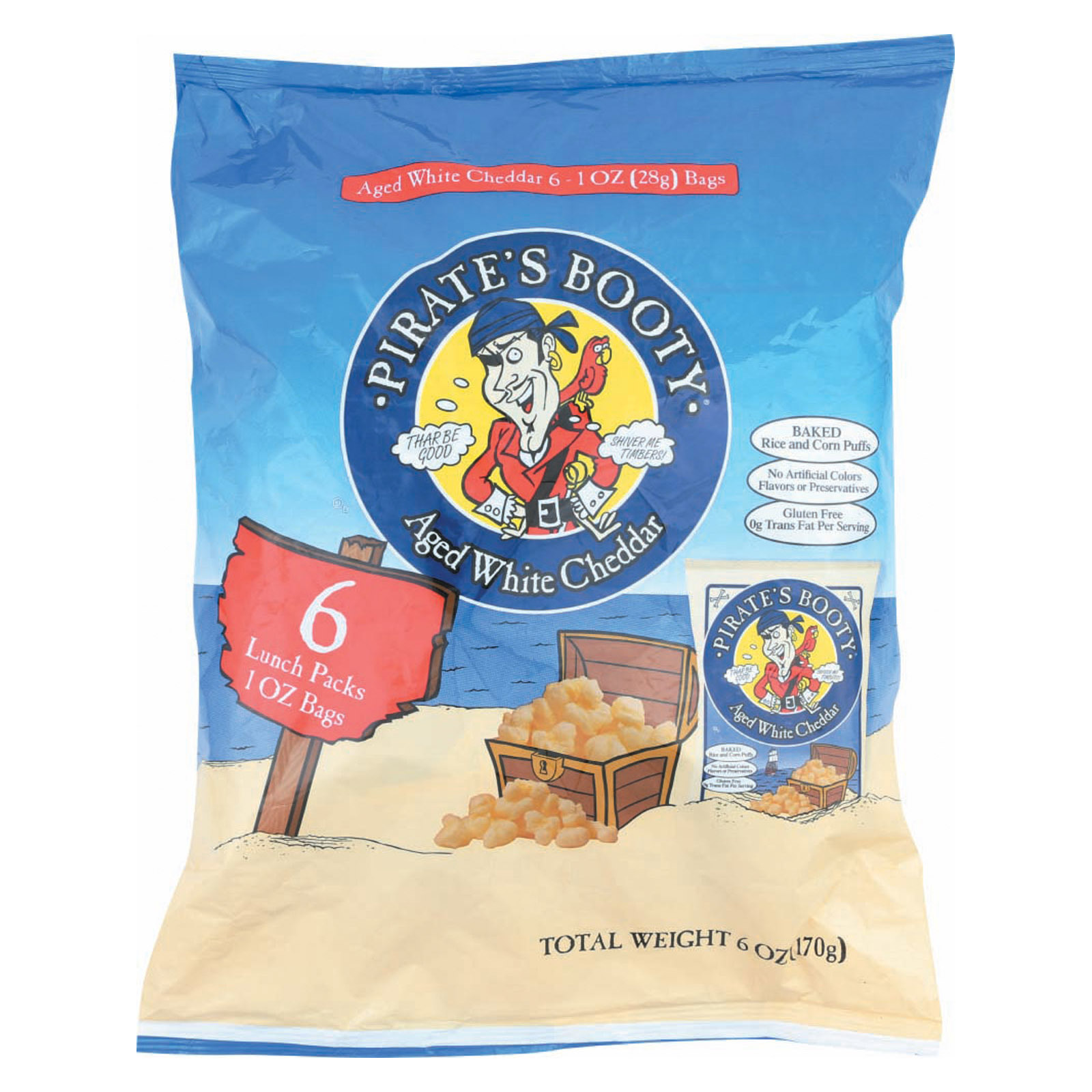 Pirate Brands Pirate's Booty Multipack - Case of 12 - 6/1 oz
