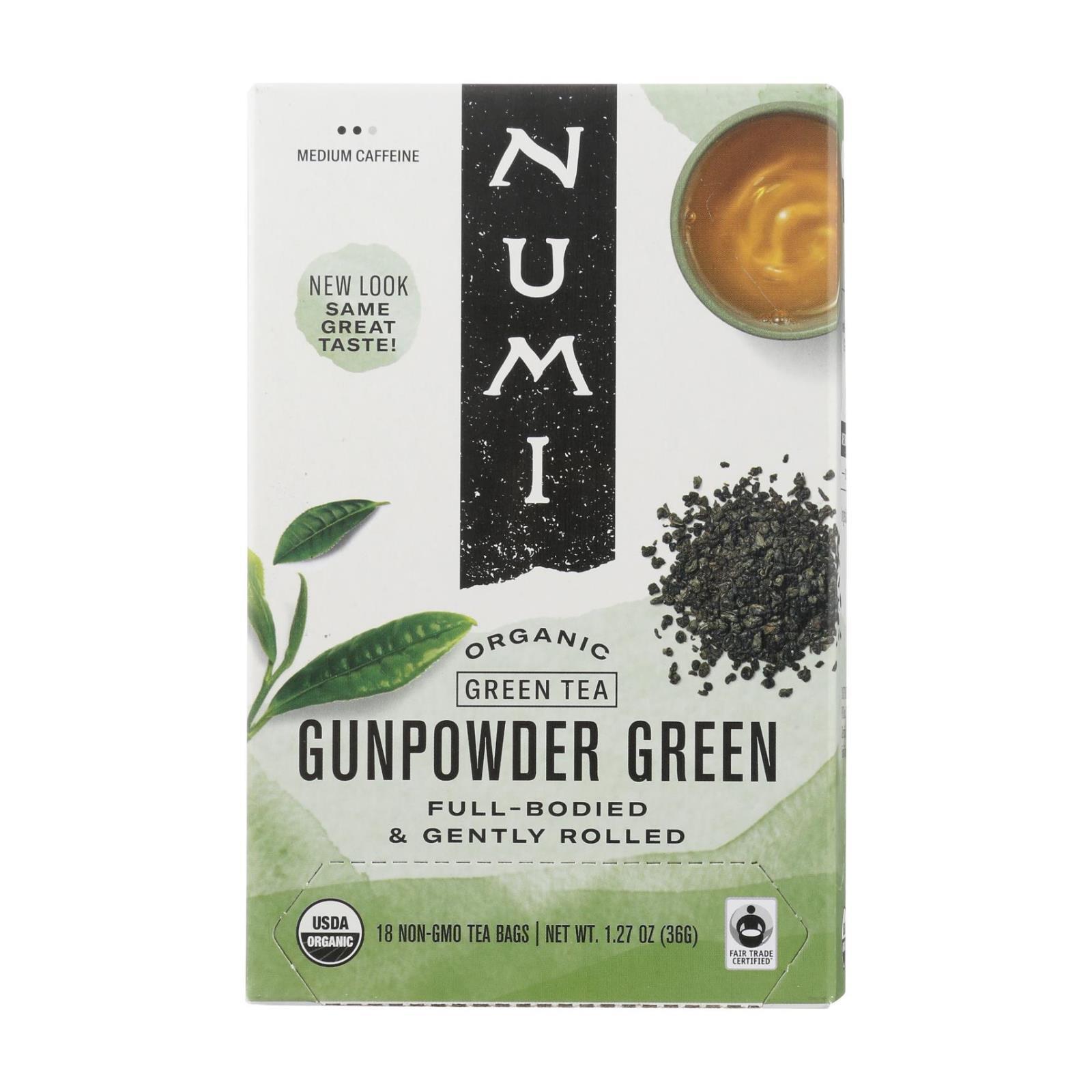 Numi Gunpowder Green Tea - 18 Tea Bags - Case of 6