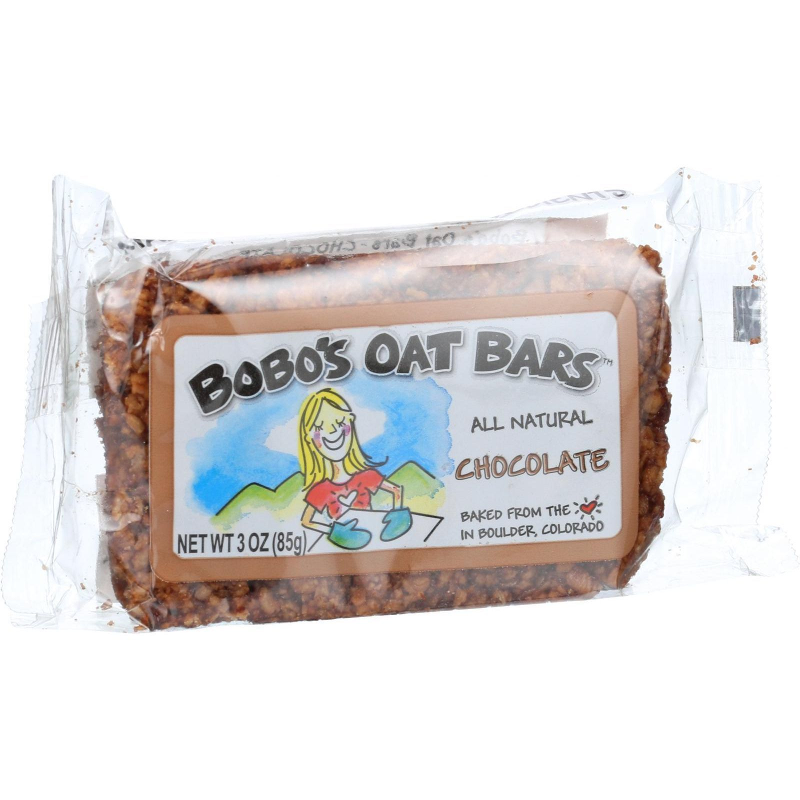 Bobo's Oat Bars - All Natural - Chocolate - 3 oz Bars - Case of 12