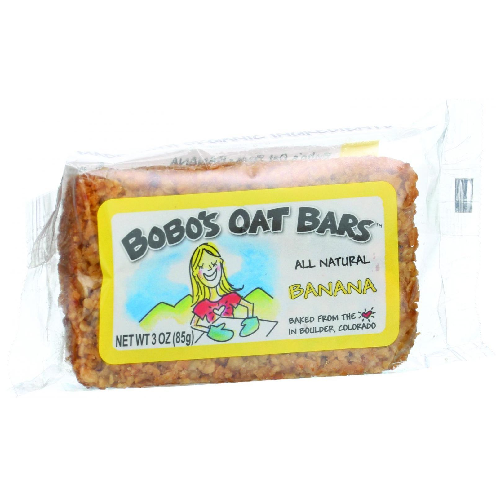 Bobo's Oat Bars - All Natural - Banana - 3 oz Bars - Case of 12