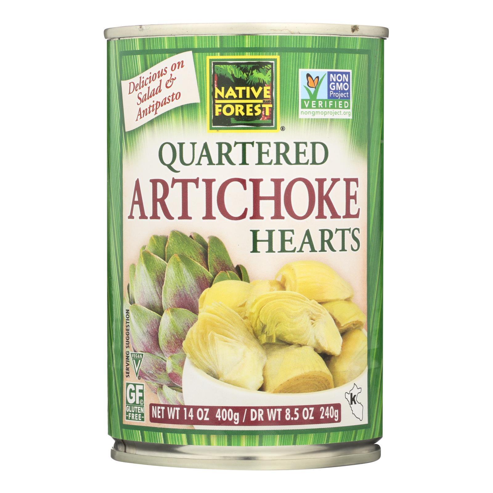 Native Forest Quartered Artichoke Hearts - Case of 6 - 14 oz.