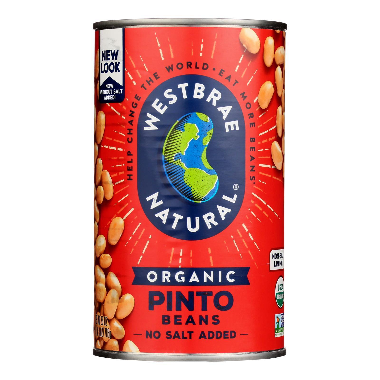 Westbrae Natural Pinto Beans - Organic - Case of 12 - 25 oz.