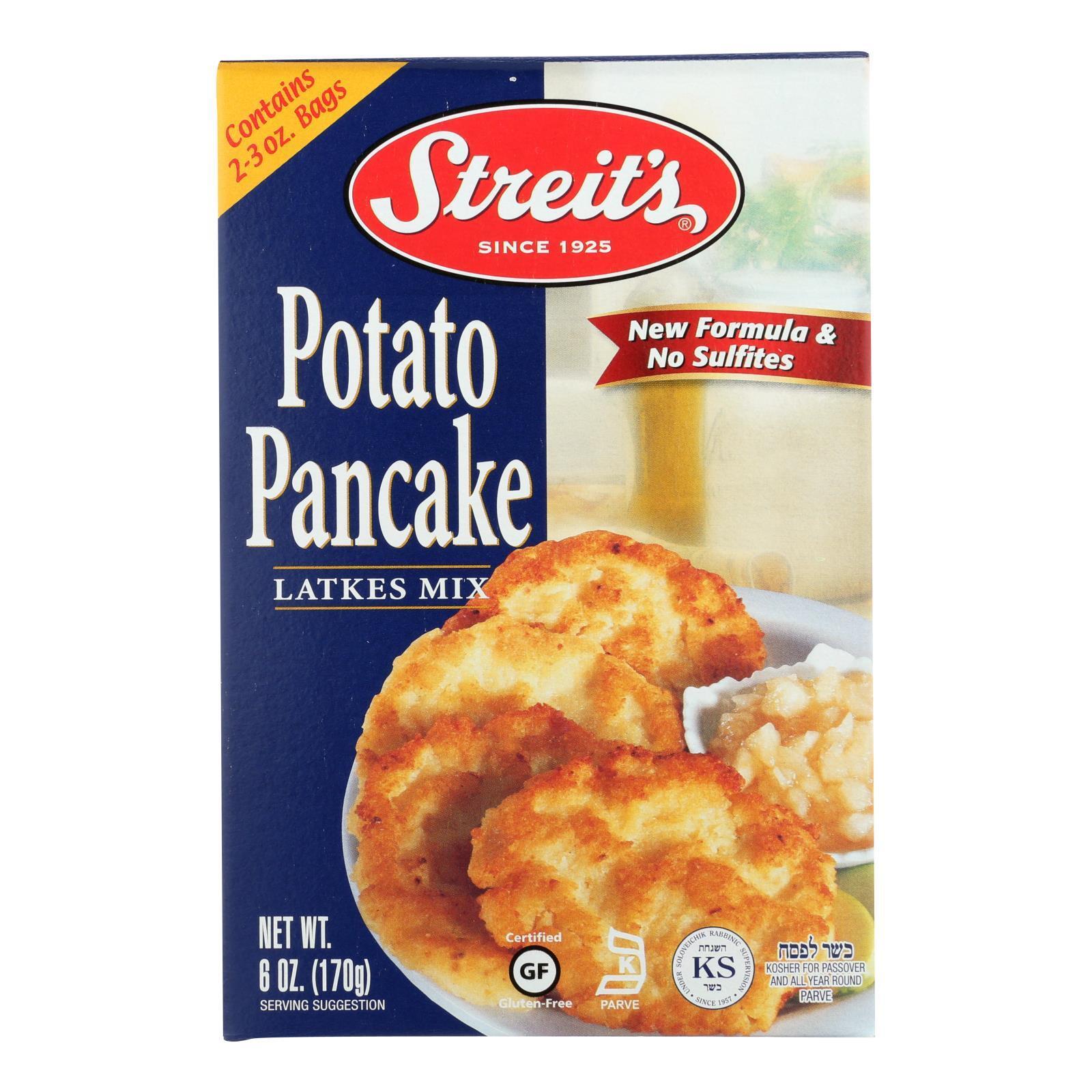 Streit's Pancake Mix - Potato - Case of 12 - 6 oz.
