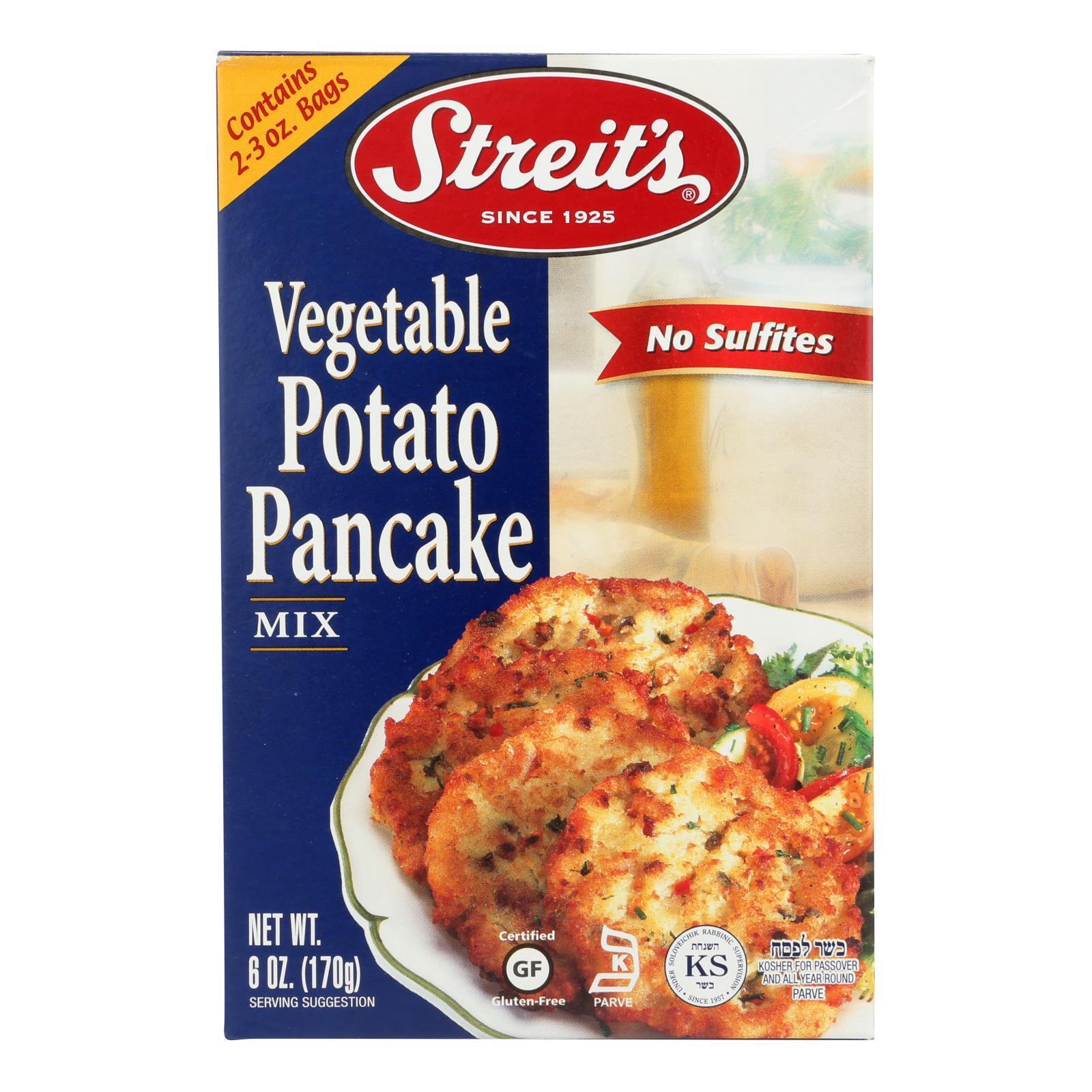 Streit's Pancake Mix - Vegetable Potato - Case of 12 - 6 oz.