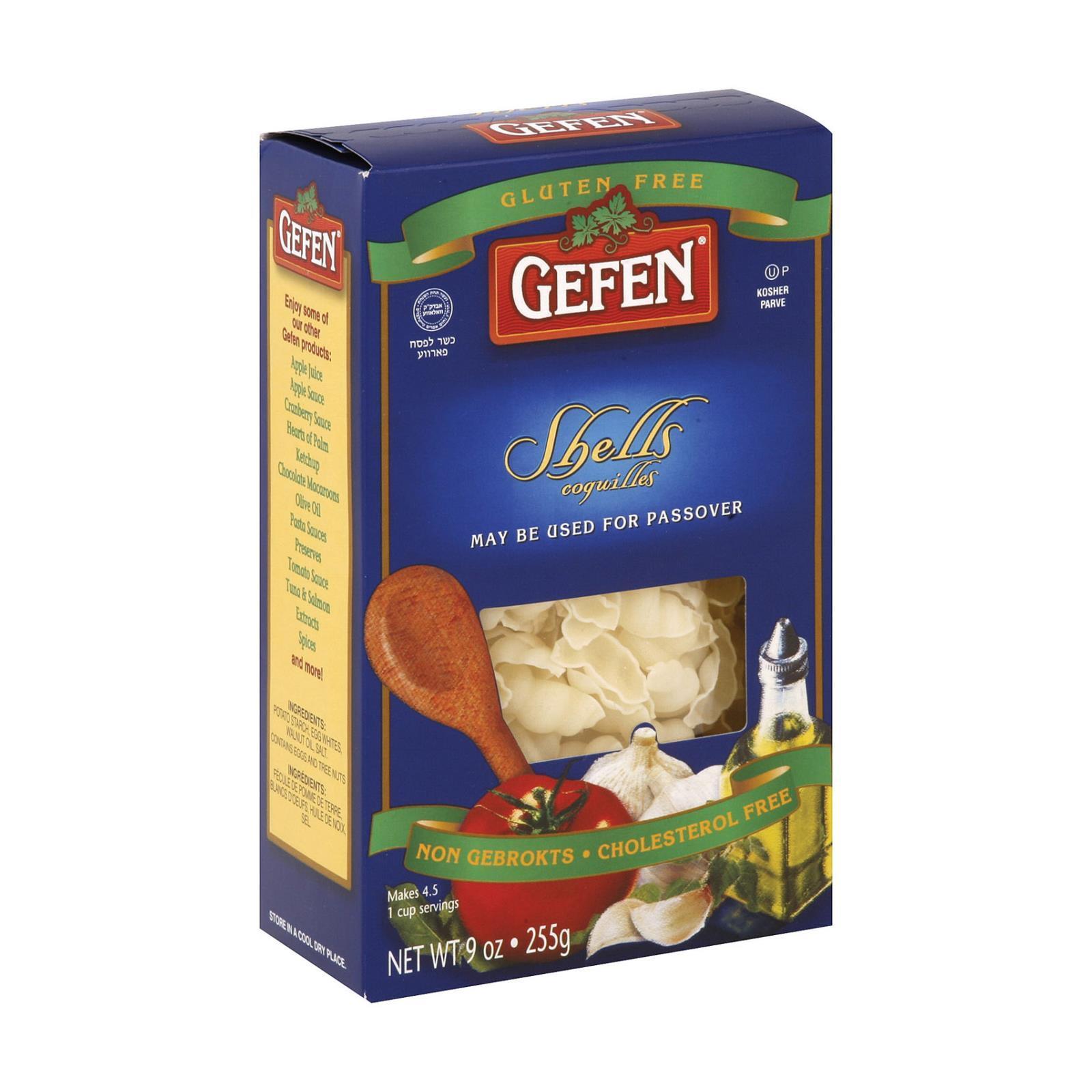 Gefen Noodles Shells - Case of 12 - 9 oz.