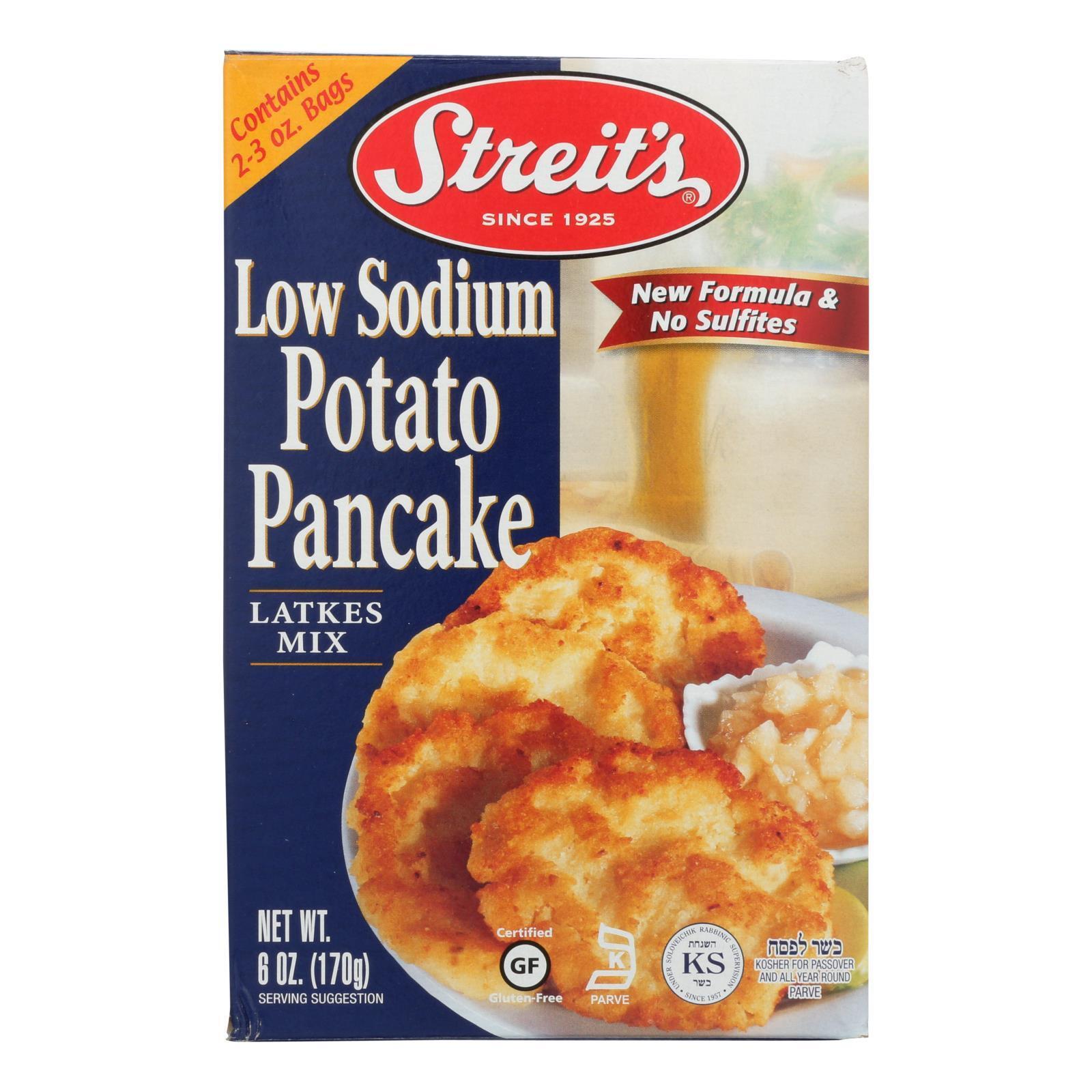 Streit's Potato Pancake Mix - Low Sodium - Case of 12 - 6 oz.