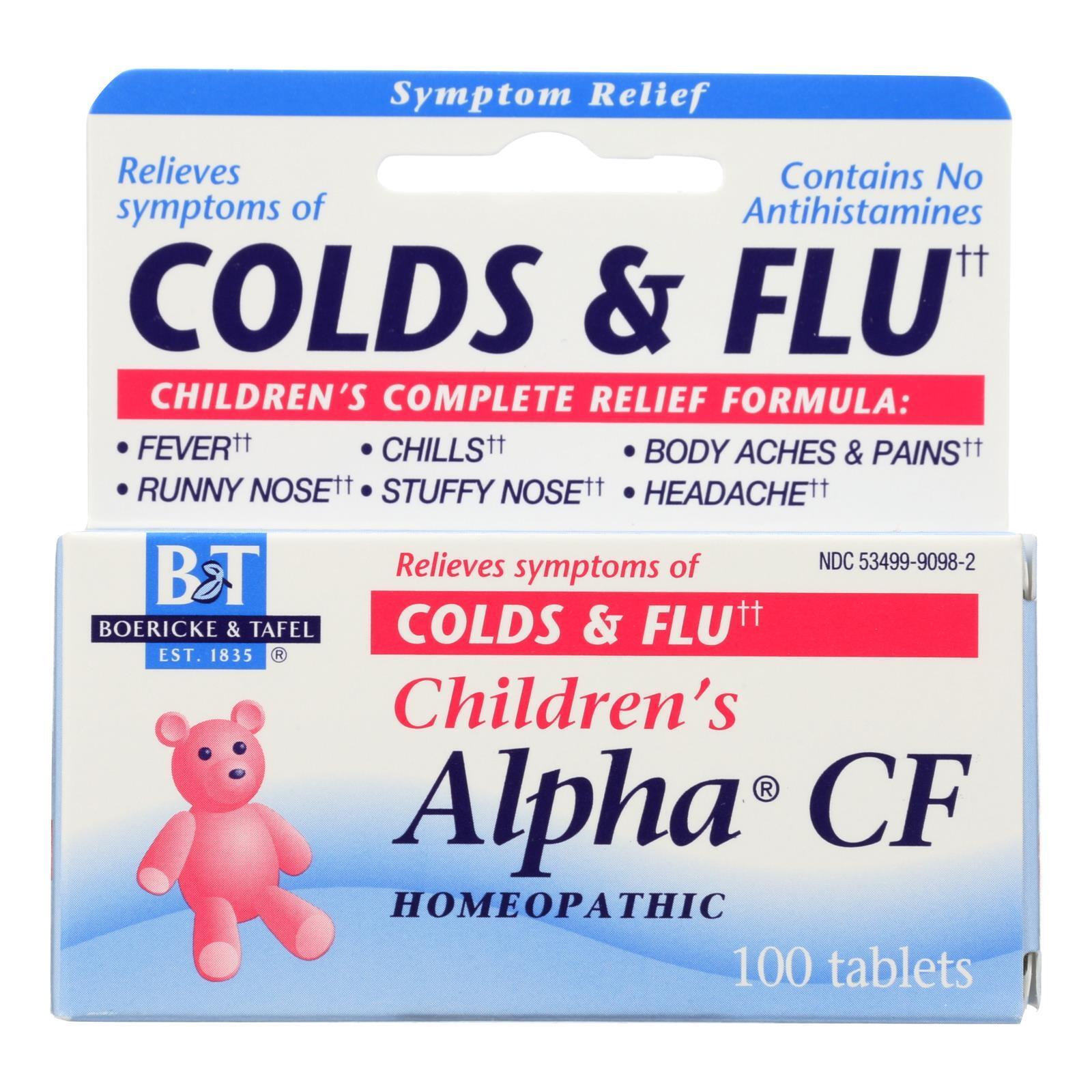 Boericke and Tafel Children's Alpha CF - 100 Tablets