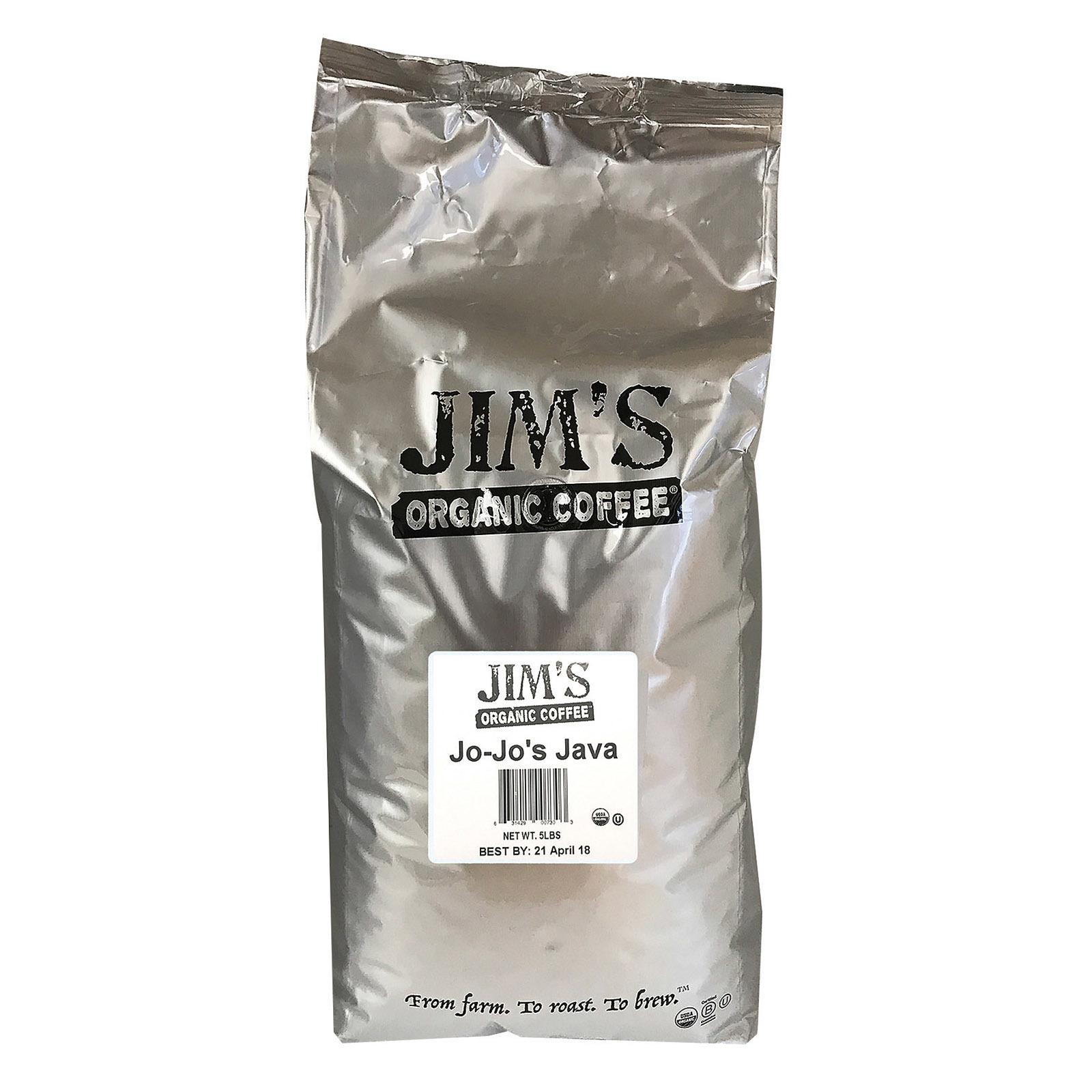 Jim's Organic Coffee - Whole Bean - Jo-Jo's Java - Bulk - 5 lb.