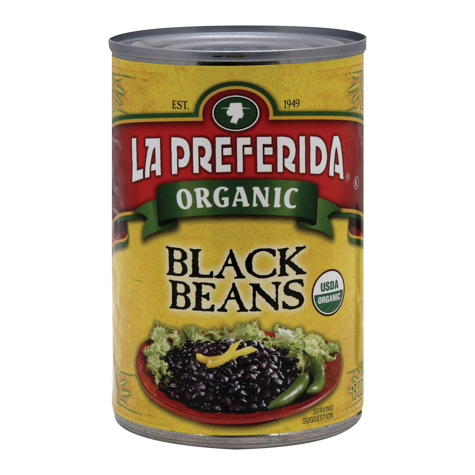 La Preferida Organic Black Beans - Case of 12 - 15 oz