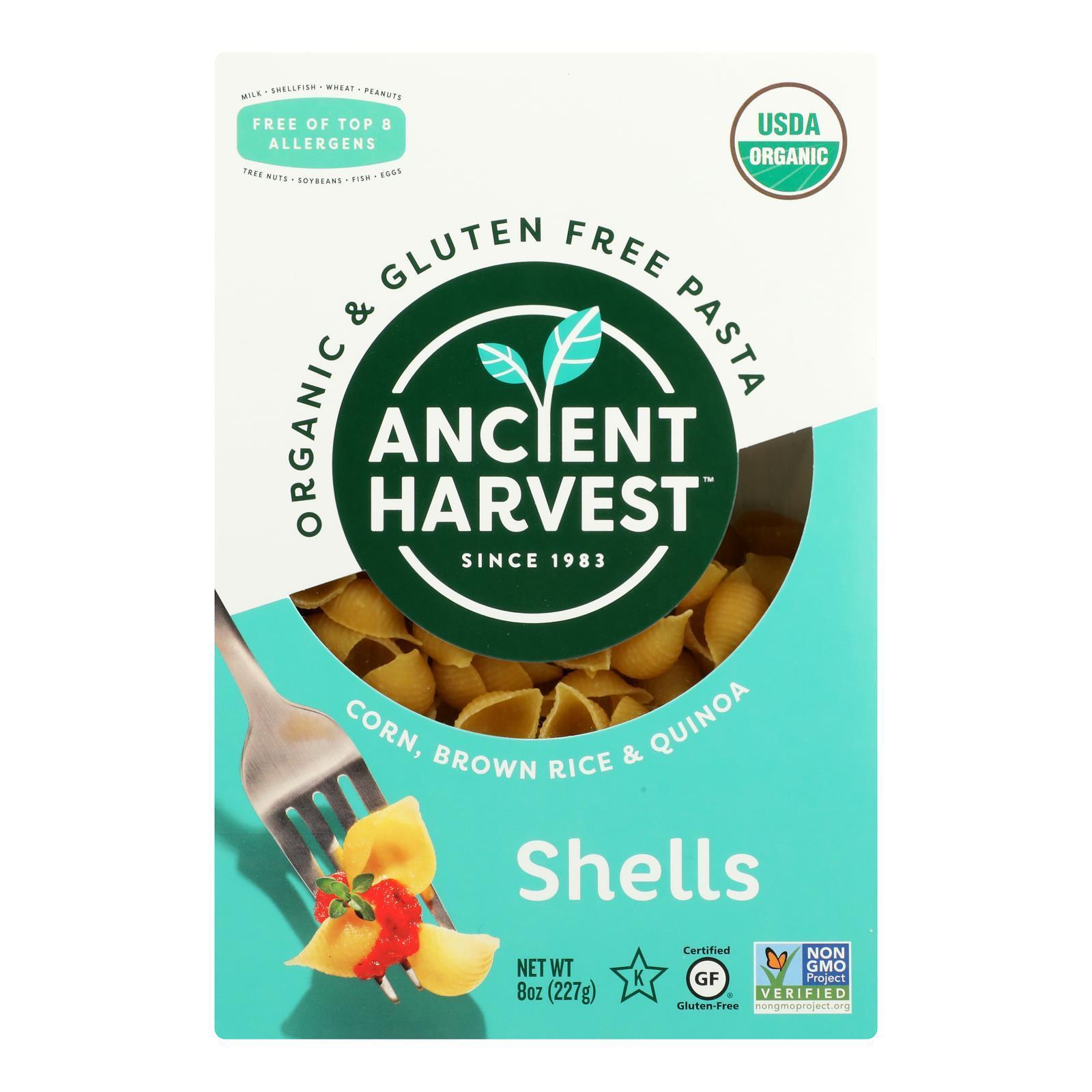 Ancient Harvest Organic Gluten Free Quinoa Supergrain Pasta - Shells - Case of 12 - 8 oz