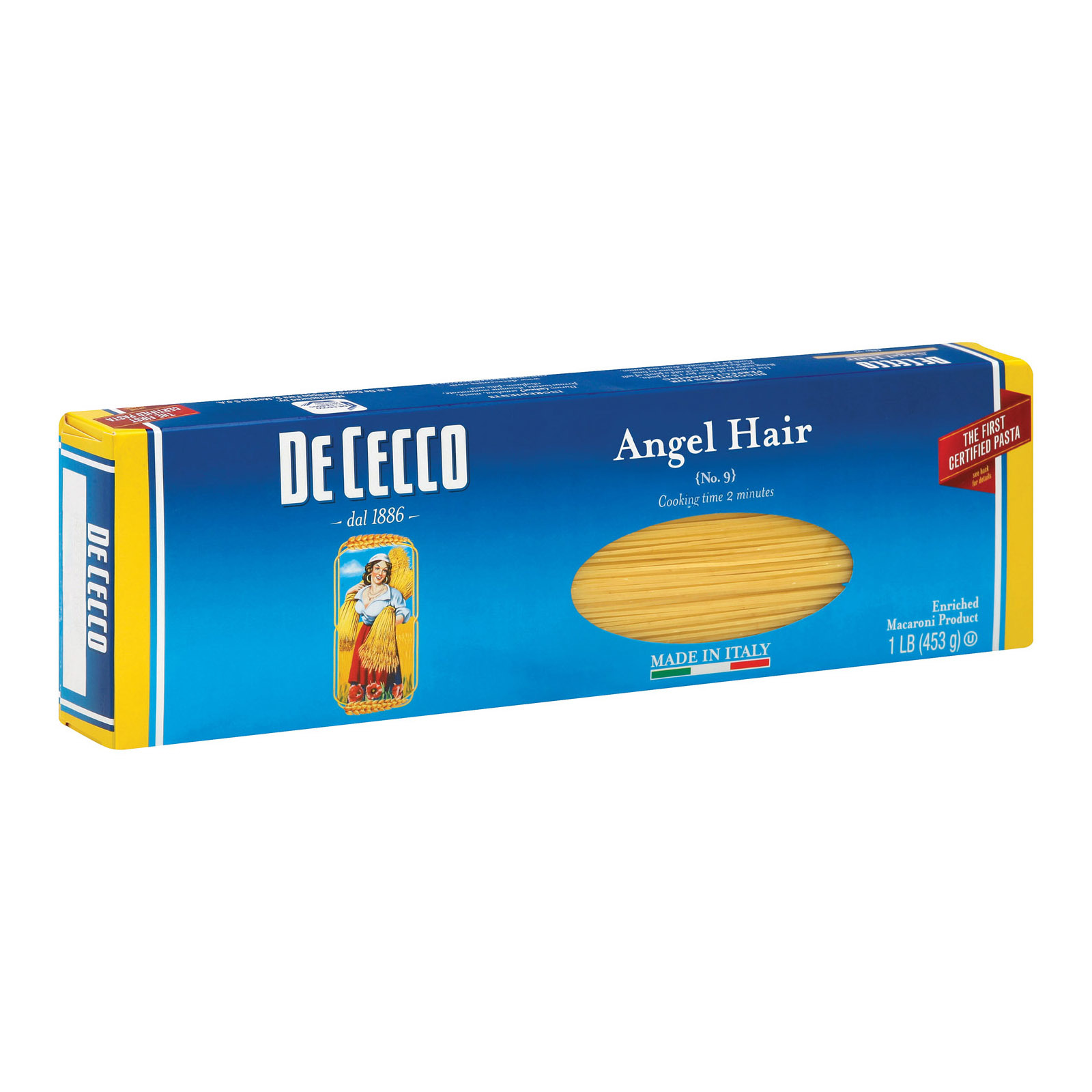 De Cecco Pasta Angel Hair Capelini Pasta - Case of 20 - 16 oz.