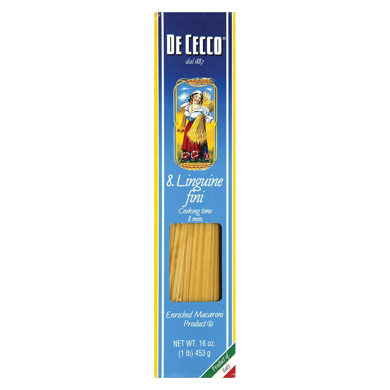 De Cecco Pasta Linguine Fini Pasta - Case of 20 - 16 oz.