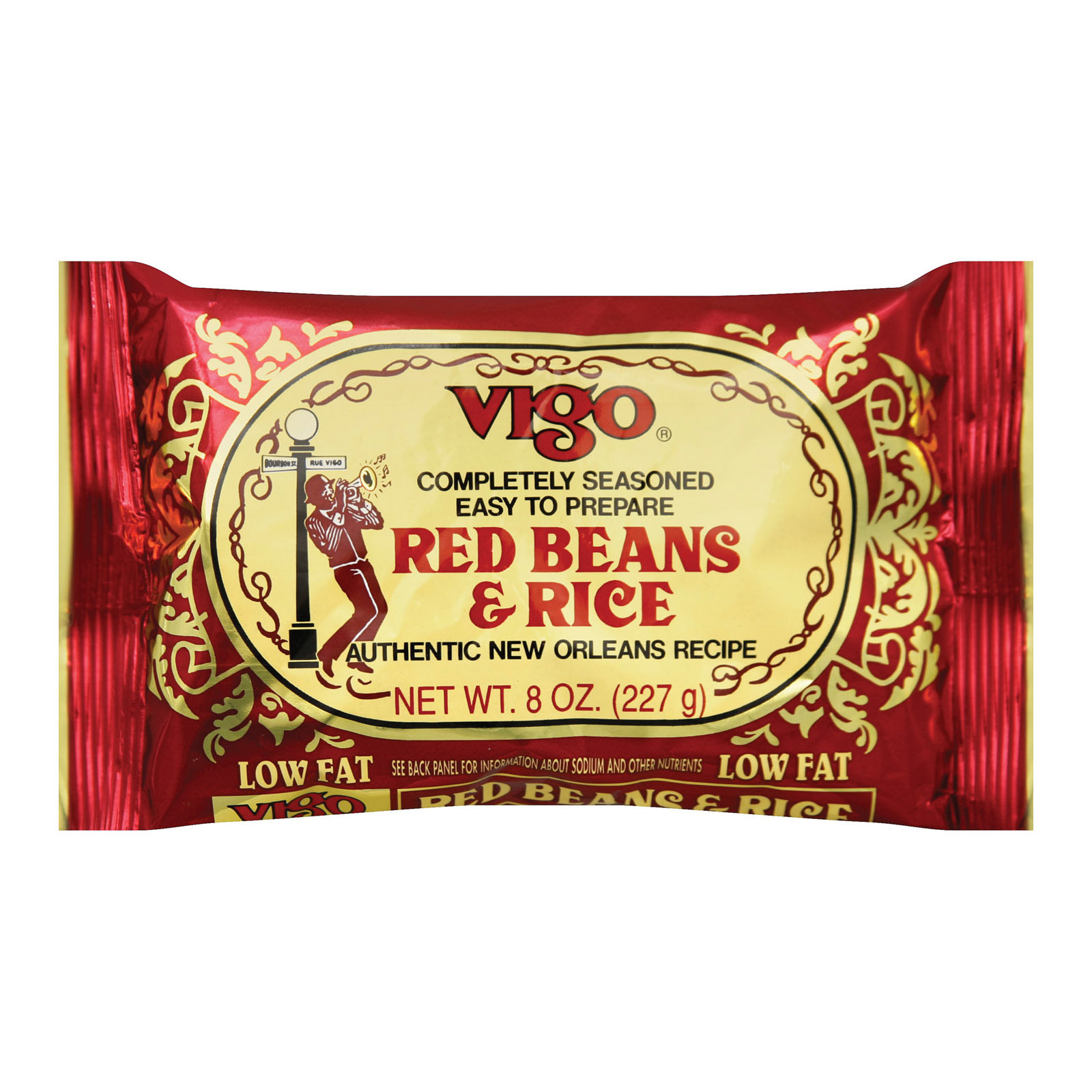 Vigo Red Beans and Rice - Case of 12 - 8 oz.