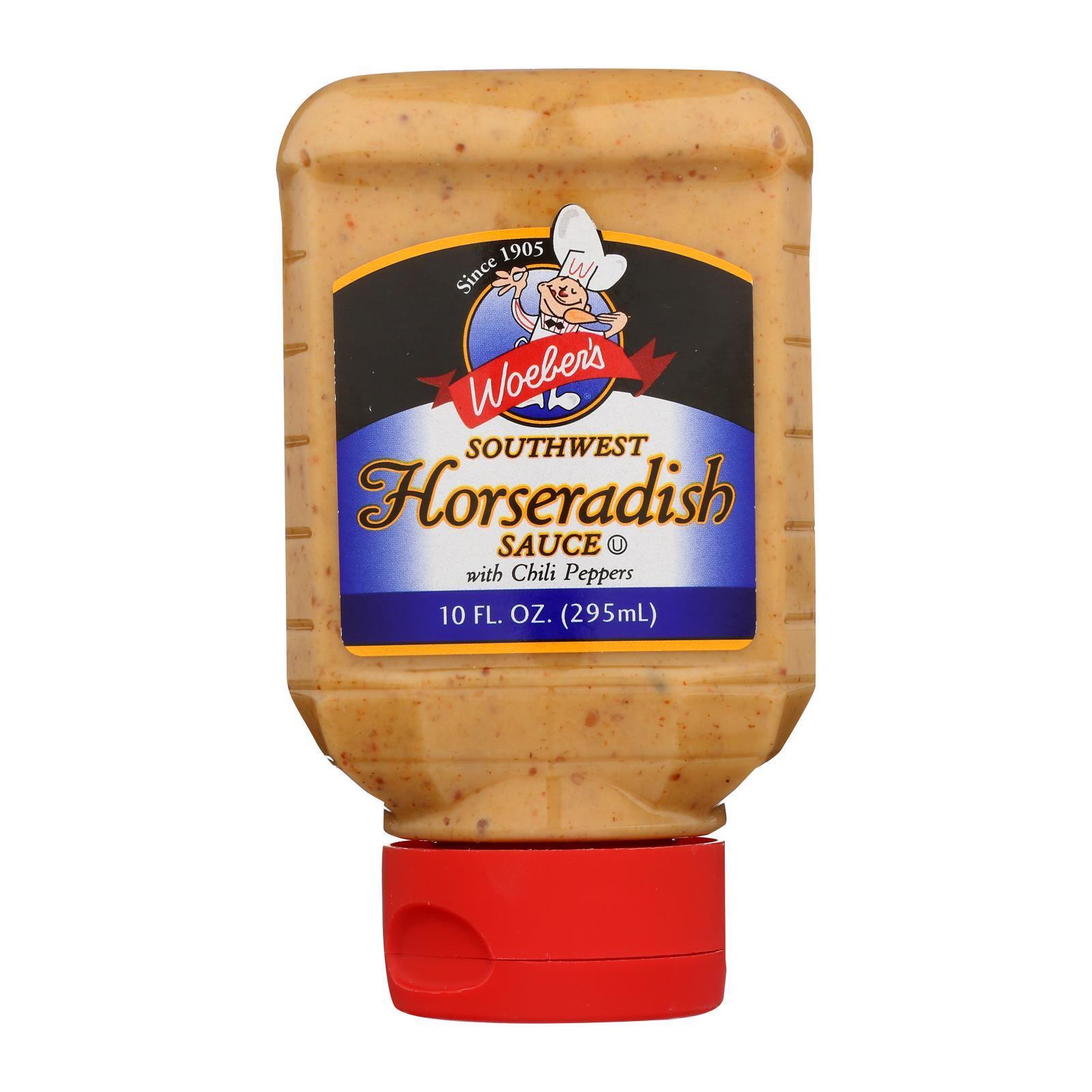 Woeber's Supreme Southwest Horseradish Sauce - Case of 6 - 10 oz.