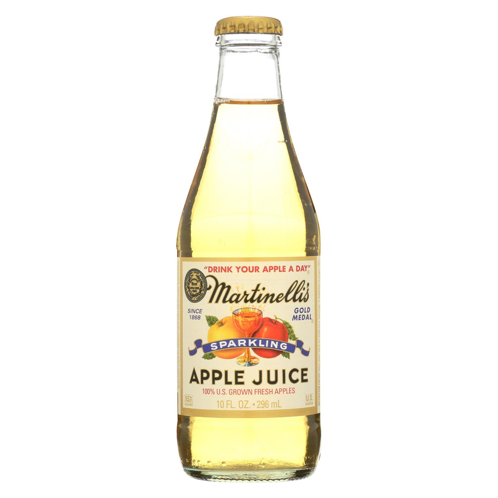 Martinelli's Sparkling Apple Juice - Case of 24 - 10 fl oz