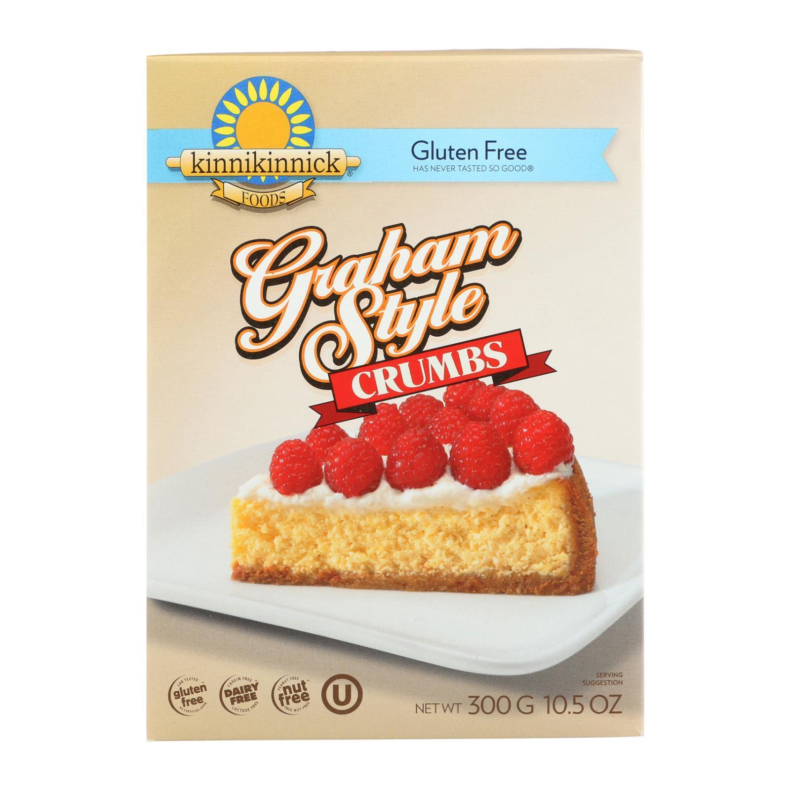 Kinnikinnick Graham Style Crumbs - Case of 6 - 10.5 oz.