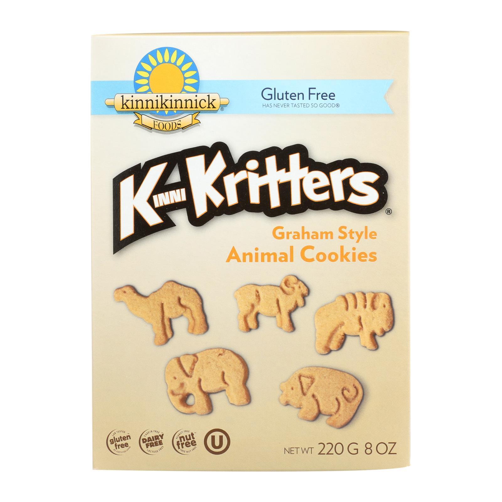 Kinnikinnick Kinnikritter Animal Cookies - Case of 6 - 8 oz.