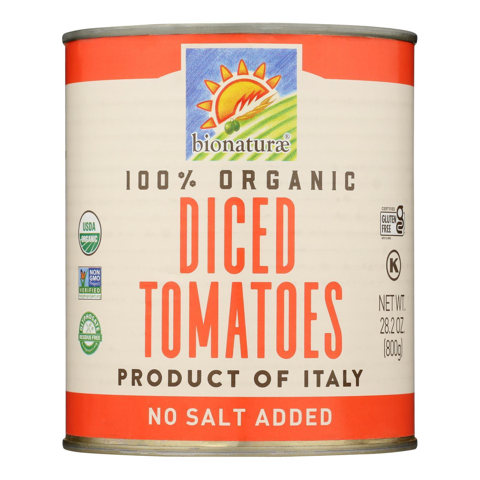 Bionaturae Tomatoes - Organic - Diced - 28.2 oz - case of 12