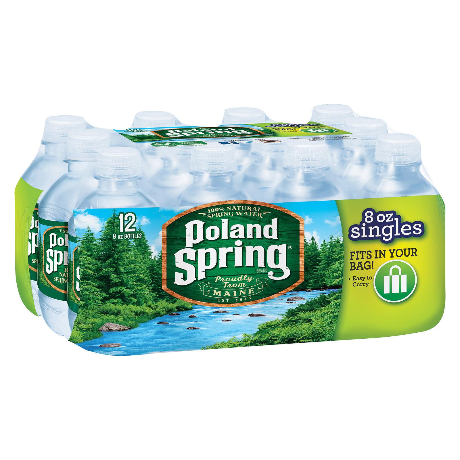 Poland Spring Water - Original - Case of 4 - 8 Fl oz.