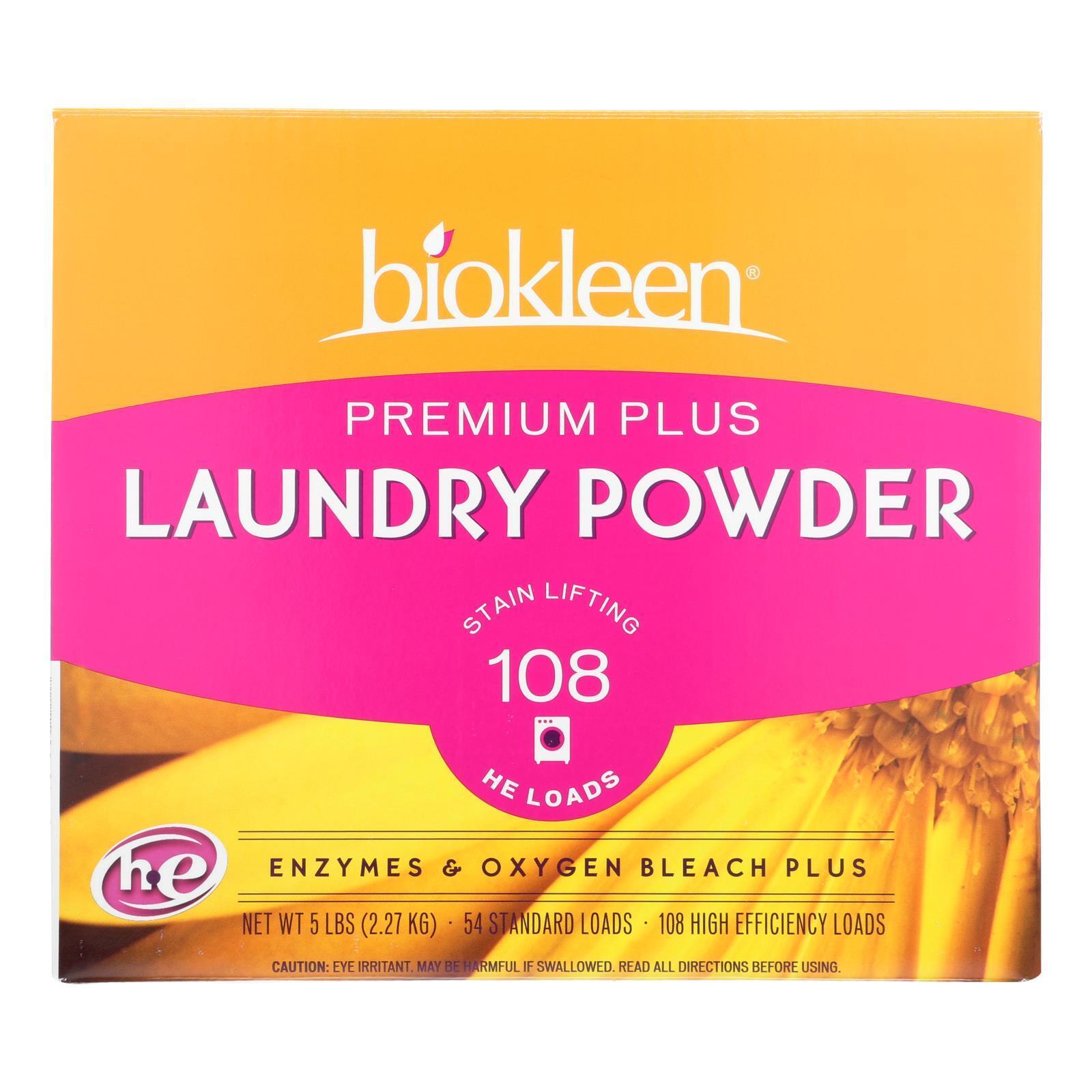 Biokleen Laundry Powder Premium Plus Stain Lifting Enzyme Formula - 5 lbs