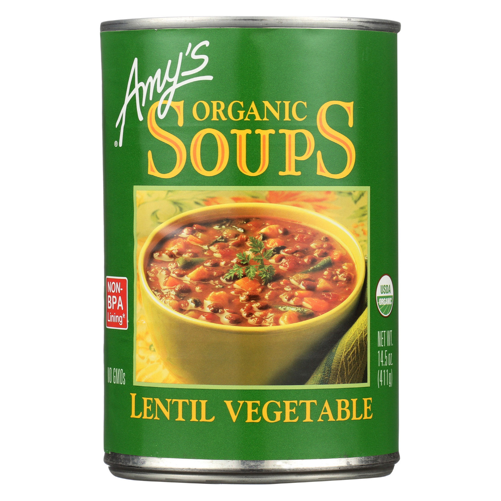 Amy's Organic Lentil Vegetable Soup - Case of 12 - 14.5 oz
